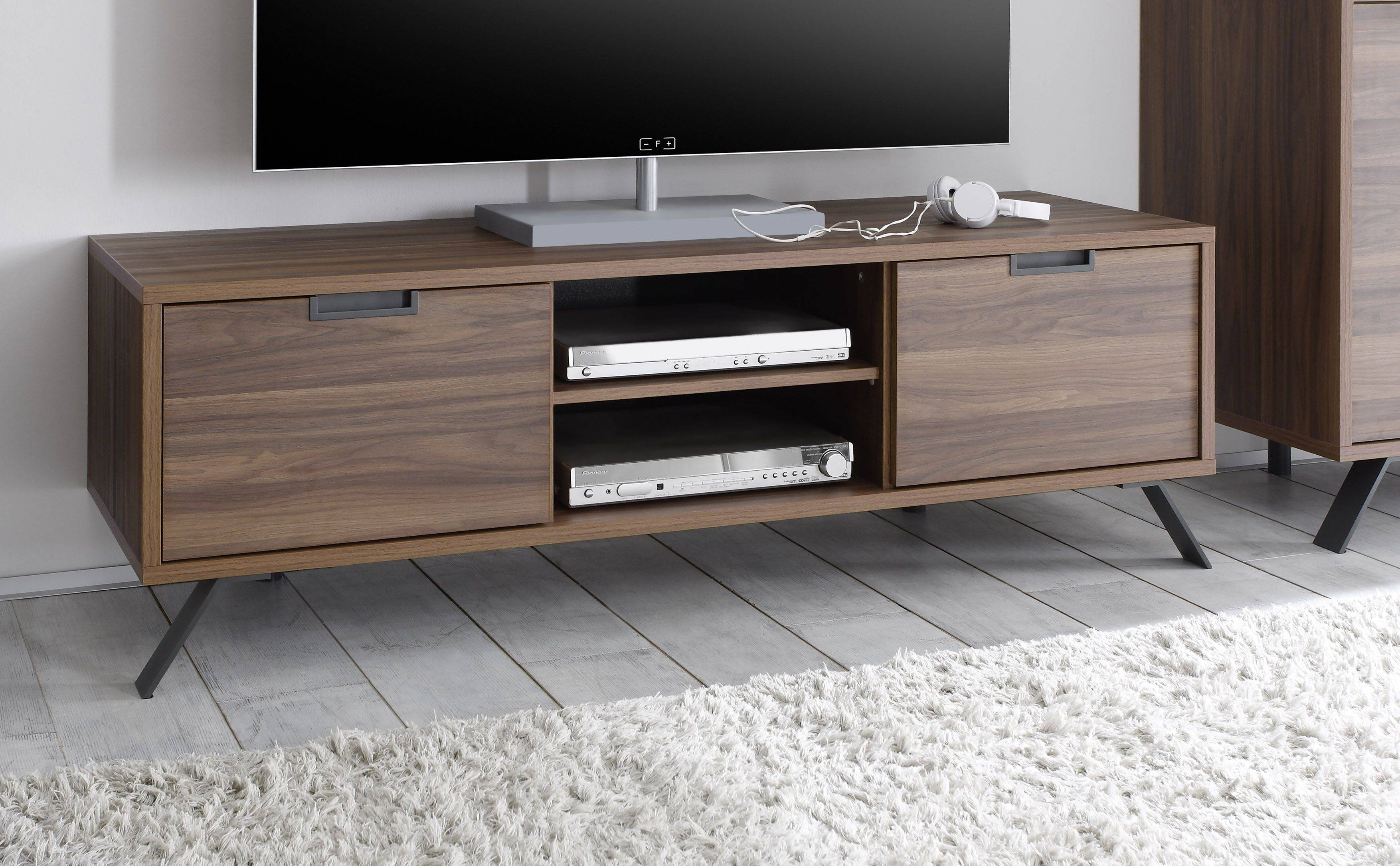 Palma Tv Stand, Walnut Buy Online At Best Price – Sohomod With Regard To Walnut Tv Stands (View 3 of 15)