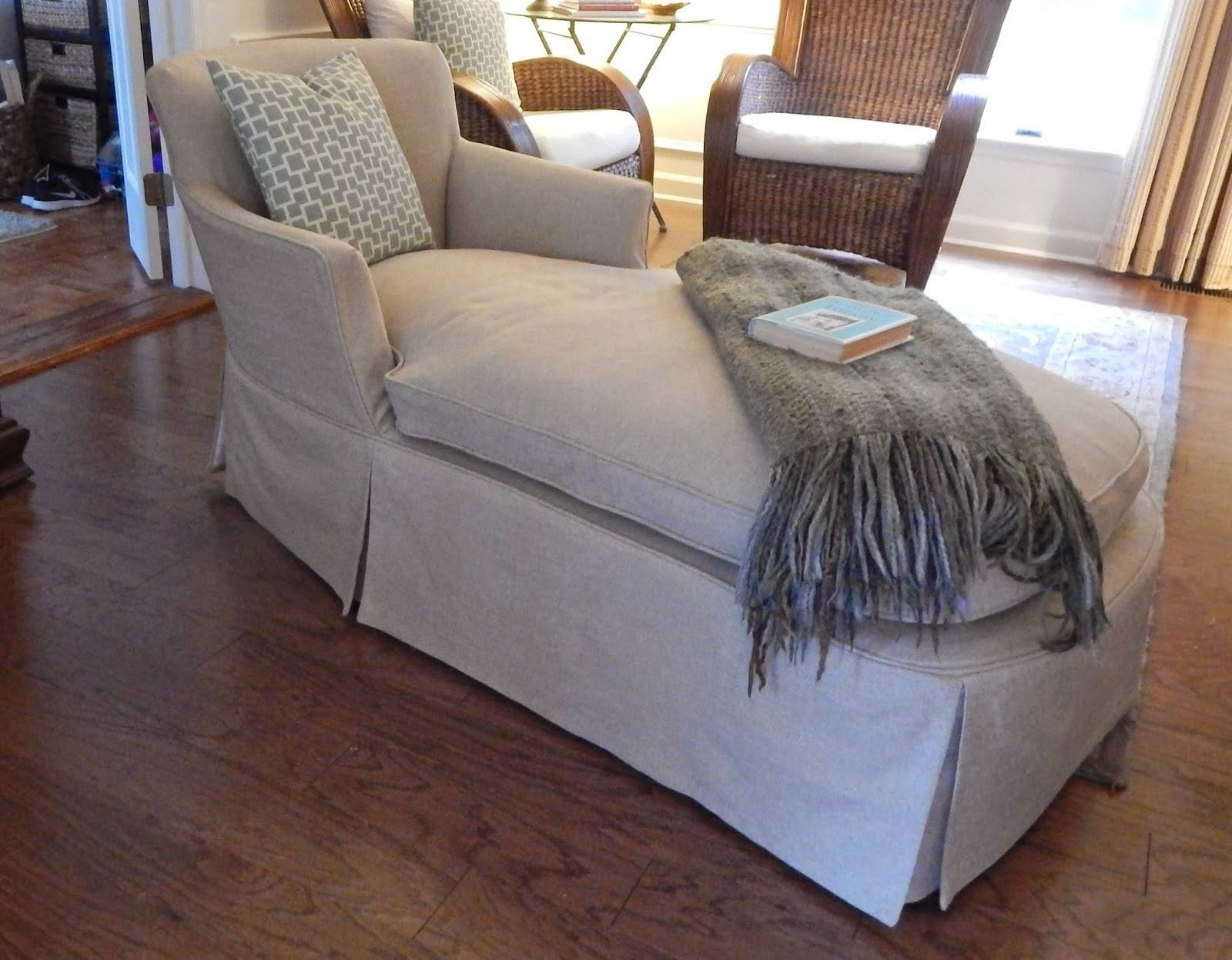Pam Morris Sews: Chaise Lounge regarding Slipcovers for Chaise Lounge Sofas (Image 13 of 15)