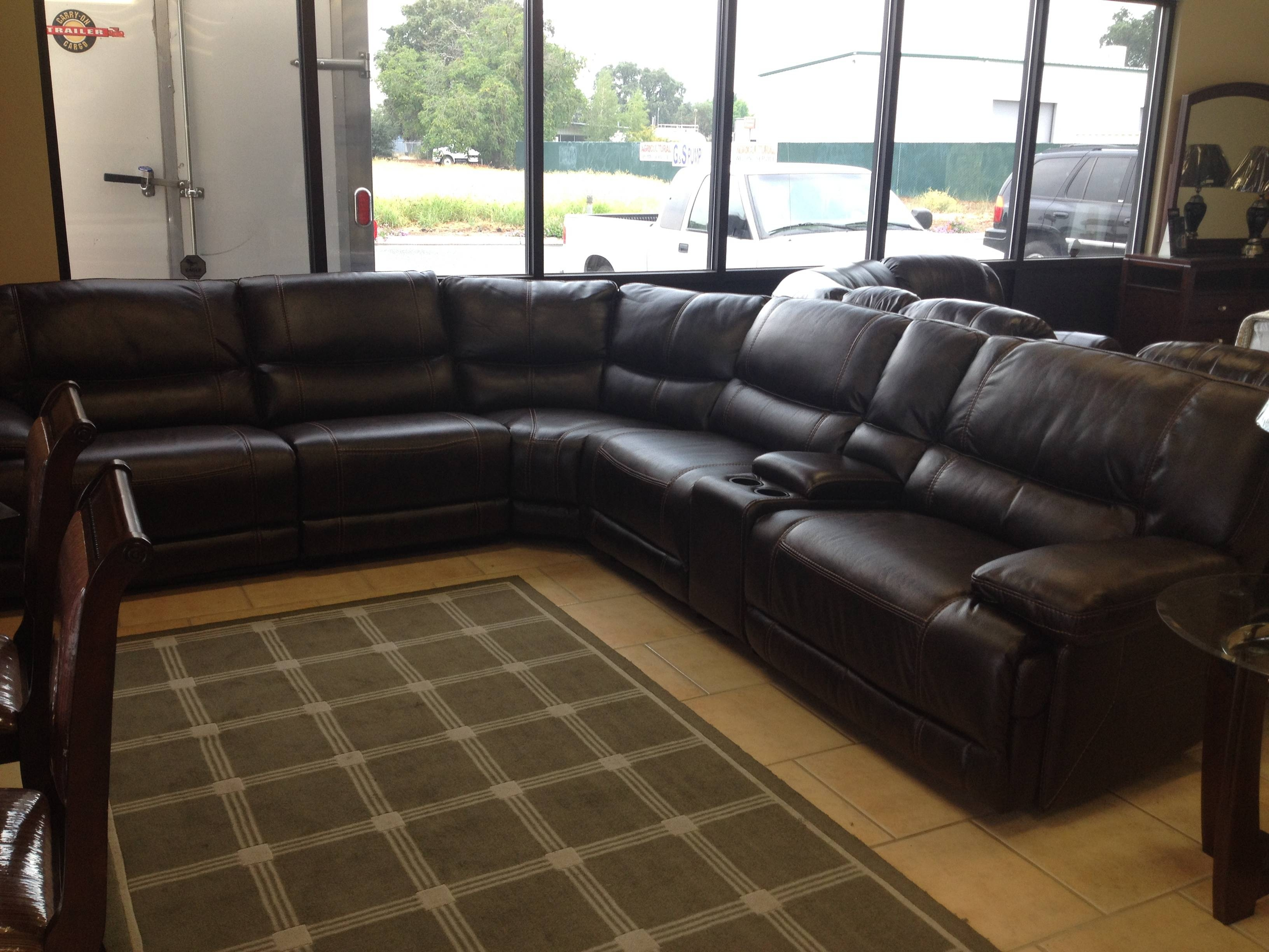 Parker House (6) Pc Power Reclining Sectional – $2,999 – Chico with Sealy Leather Sofas (Image 7 of 15)