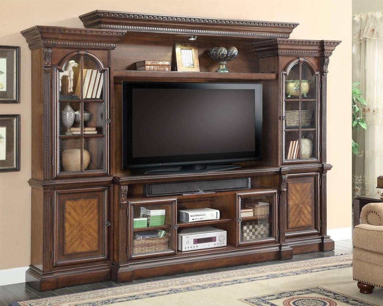 Parker House 62In Tv Entertainment Center Wall Unit Marquis Ph-Mar in Tv Entertainment Wall Units (Image 7 of 15)