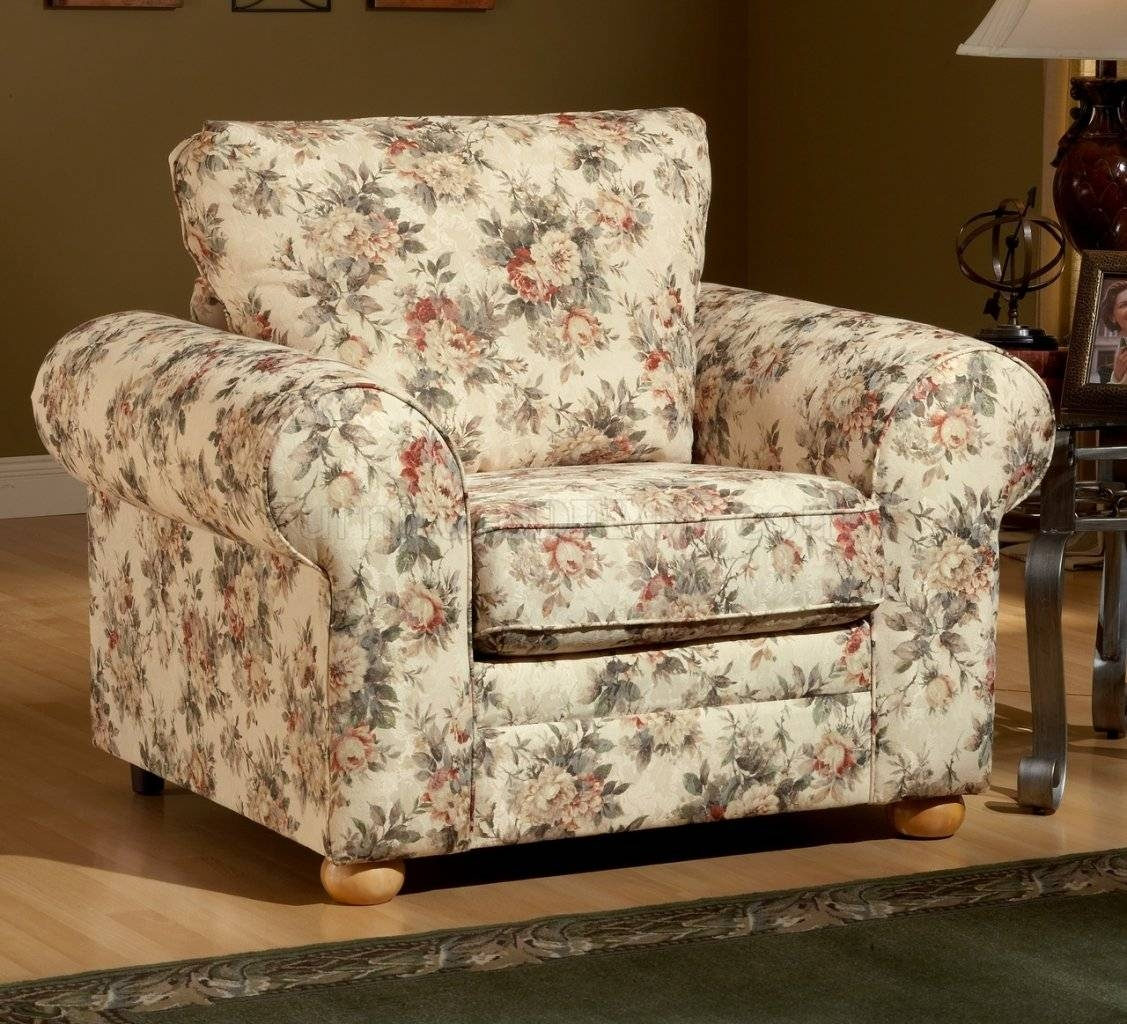Pattern Fabric Traditional Sofa & Loveseat Set intended for Floral Sofas (Image 10 of 15)