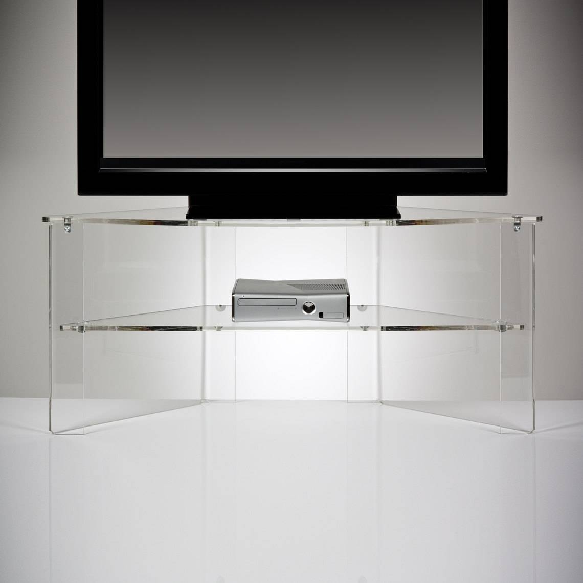 Perspex Acrylic Transparent Tv Stand Premium Acrylic Made within Acrylic Tv Stands (Image 10 of 15)