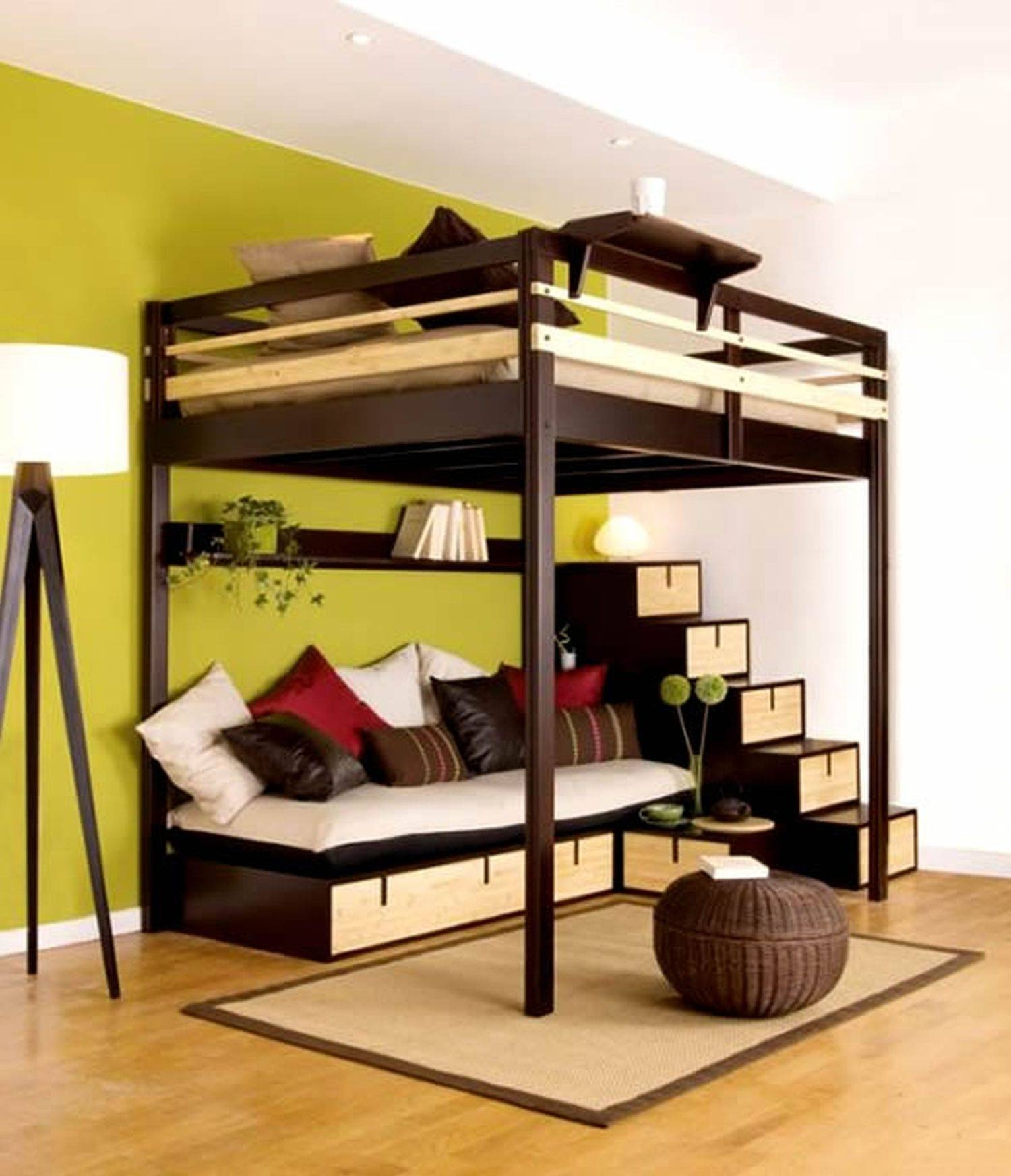 Photo Gallery Of Bunk Beds With Desk And Sofa Bed (Viewing 15 Of with Bunk Bed With Sofas Underneath (Image 13 of 15)