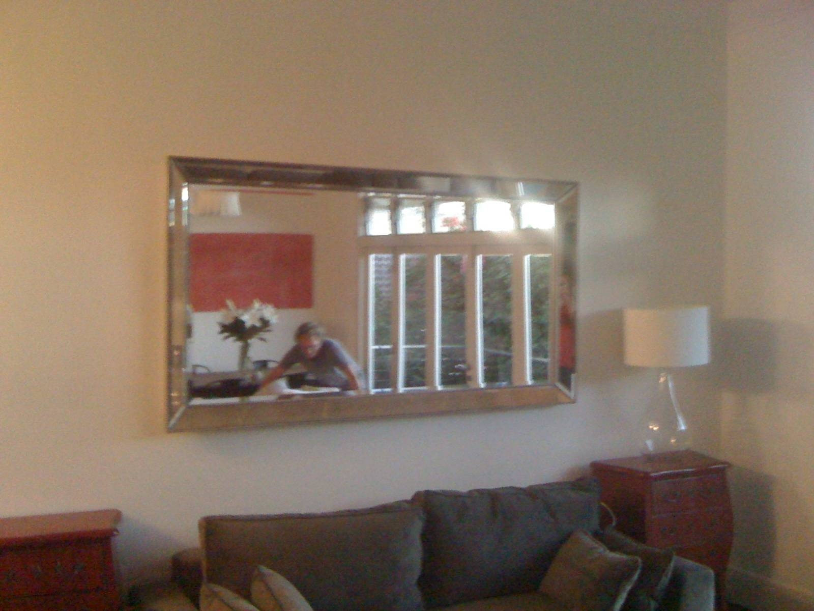 Picture Hanging Sydney | Picture & Mirror Hanging Service with Mirror Above Sofas (Image 12 of 15)