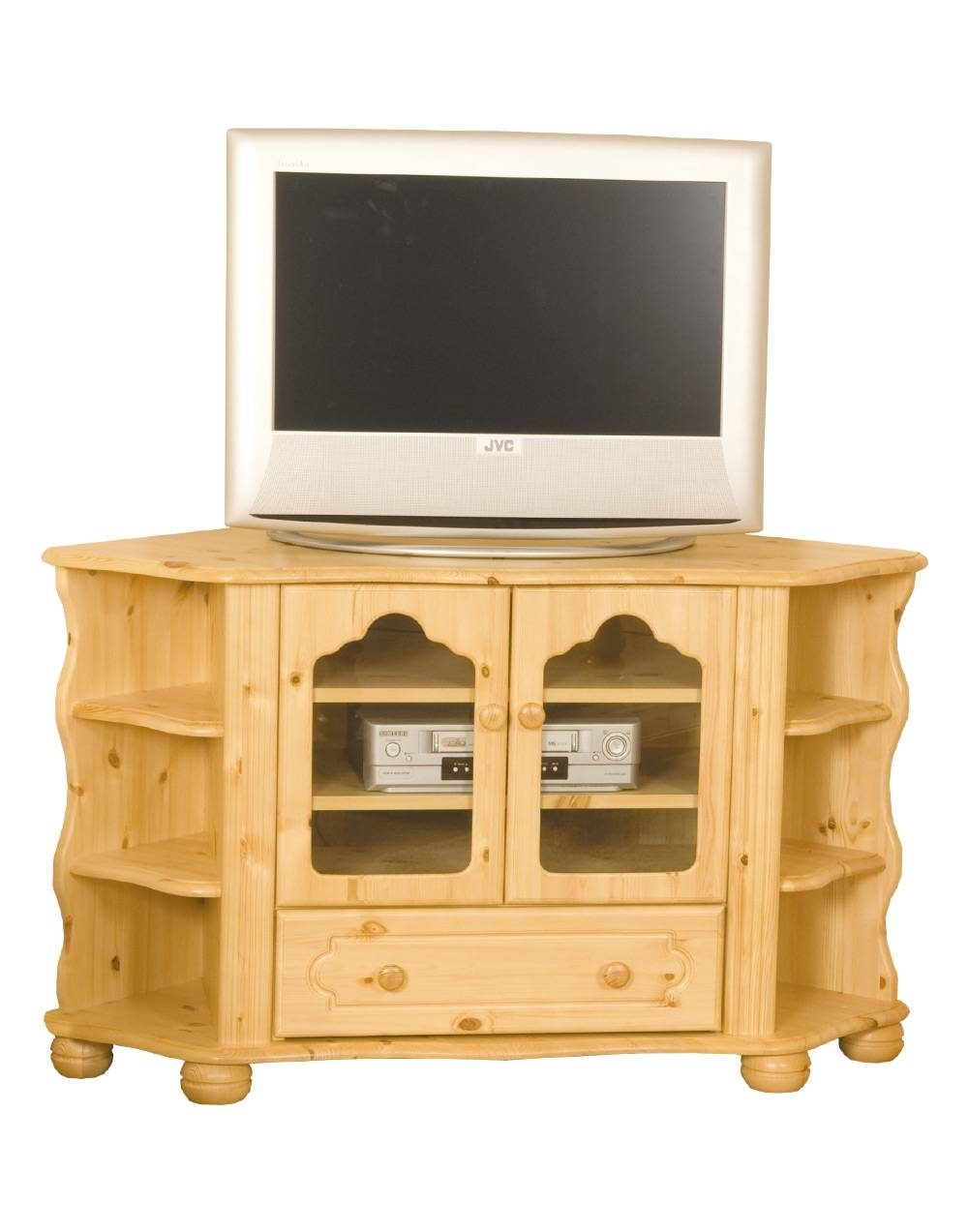 Pine Tv Display Unit - Pine, Tv Units - Mckenna Furniture for Pine Tv Unit (Image 8 of 15)