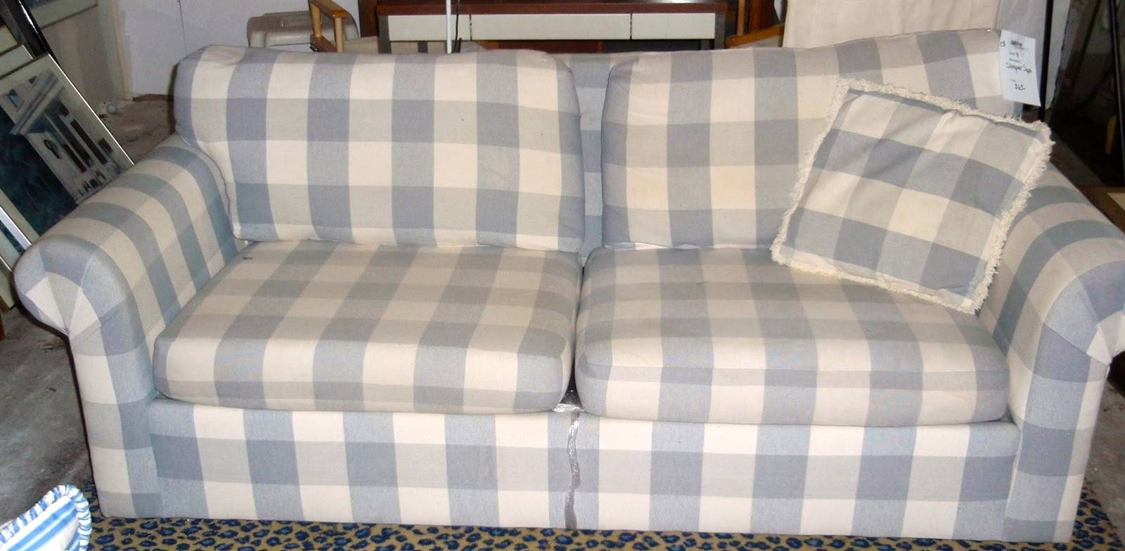 Plaid Sleeper Sofa - Ansugallery for Blue Plaid Sofas (Image 7 of 15)