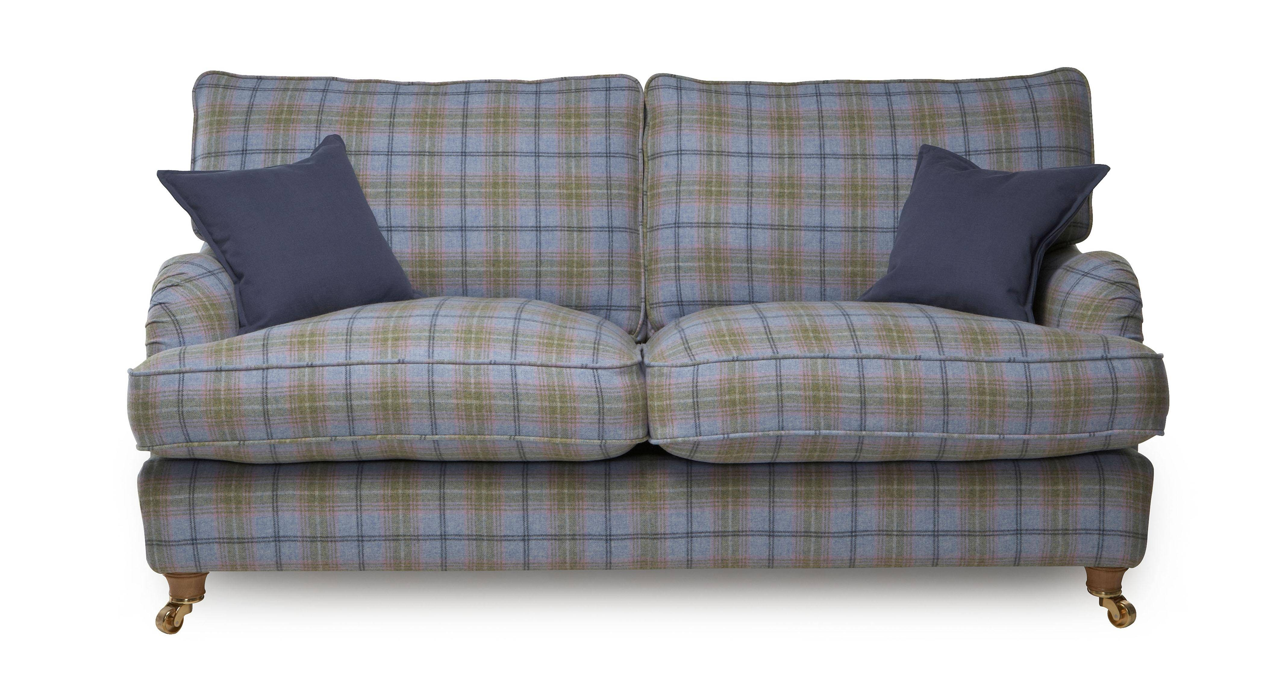 Plaid Sofa with Blue Plaid Sofas (Image 8 of 15)