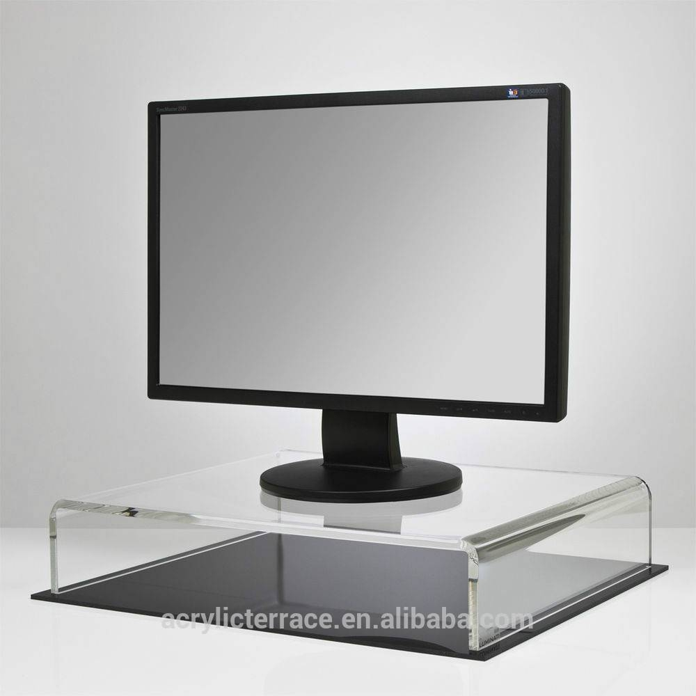 Platform Tv Monitor Riser - Buy Acrylic Tv Riser With Base,acrylic within Tv Riser Stand (Image 11 of 15)