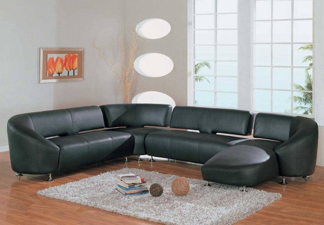Popular Green Leather Sectional Sofa And Leather Sectional Sofas intended for Green Leather Sectional Sofas (Image 10 of 15)