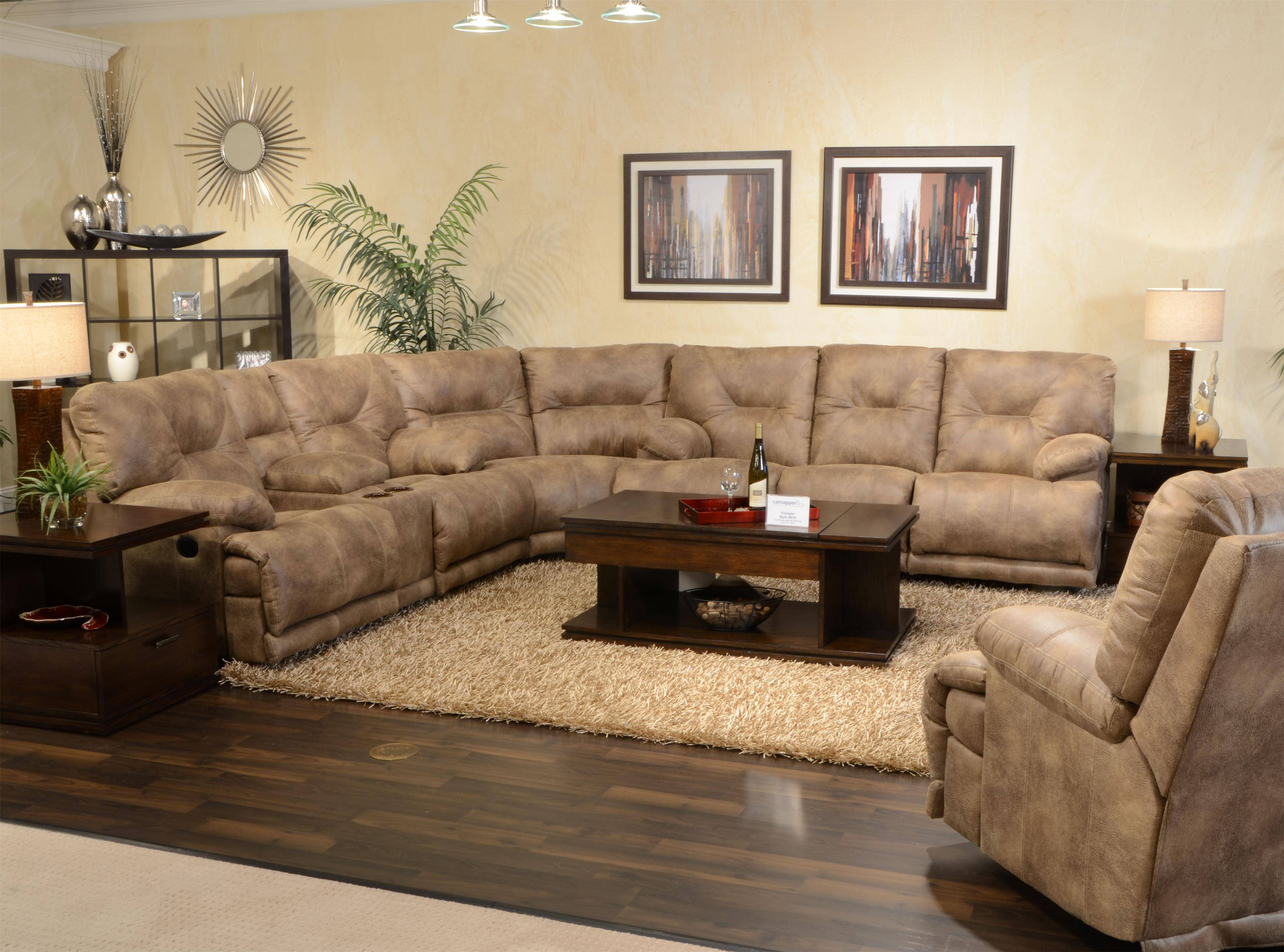 "Power 6 Seat ""lay Flat"" Reclining Sectional Seatingcatnapper for Catnapper Reclining Sofas (Image 13 of 15)"