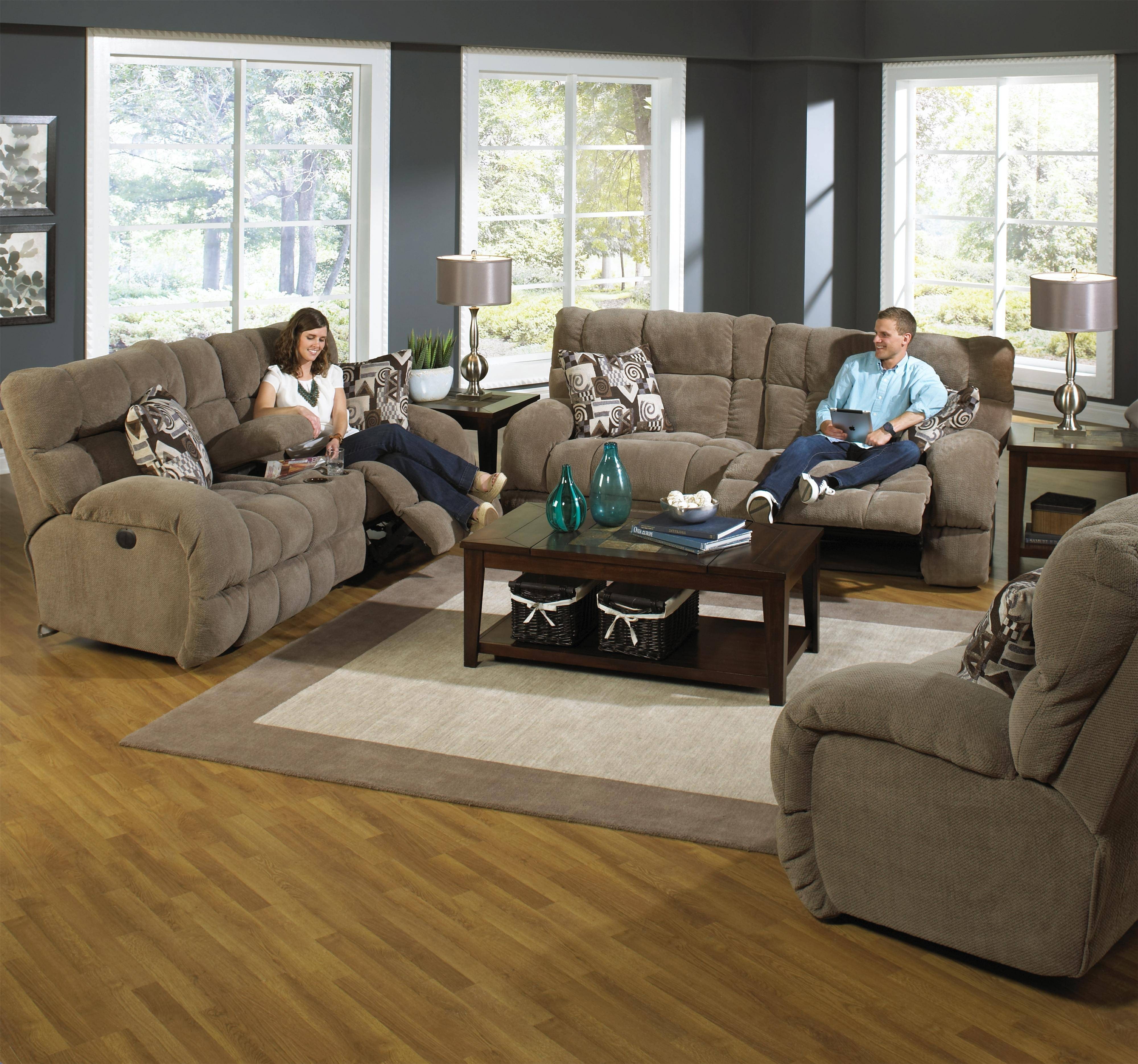 Power Lay Flat Reclining Sofa With Wide Seatscatnapper | Wolf Regarding Catnapper Recliner Sofas (View 9 of 15)