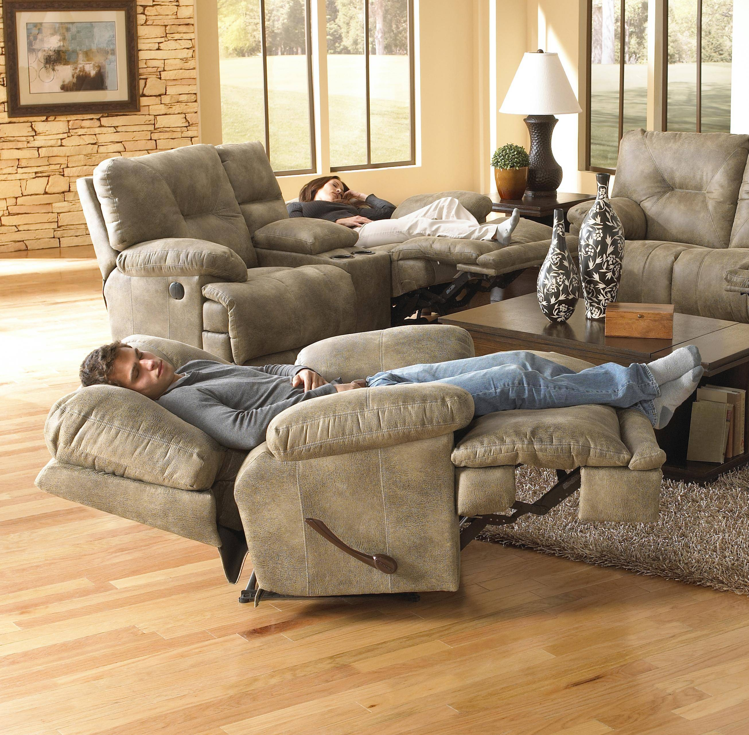 """Power Single Seat """"lay Flat"""" Reclinercatnapper 