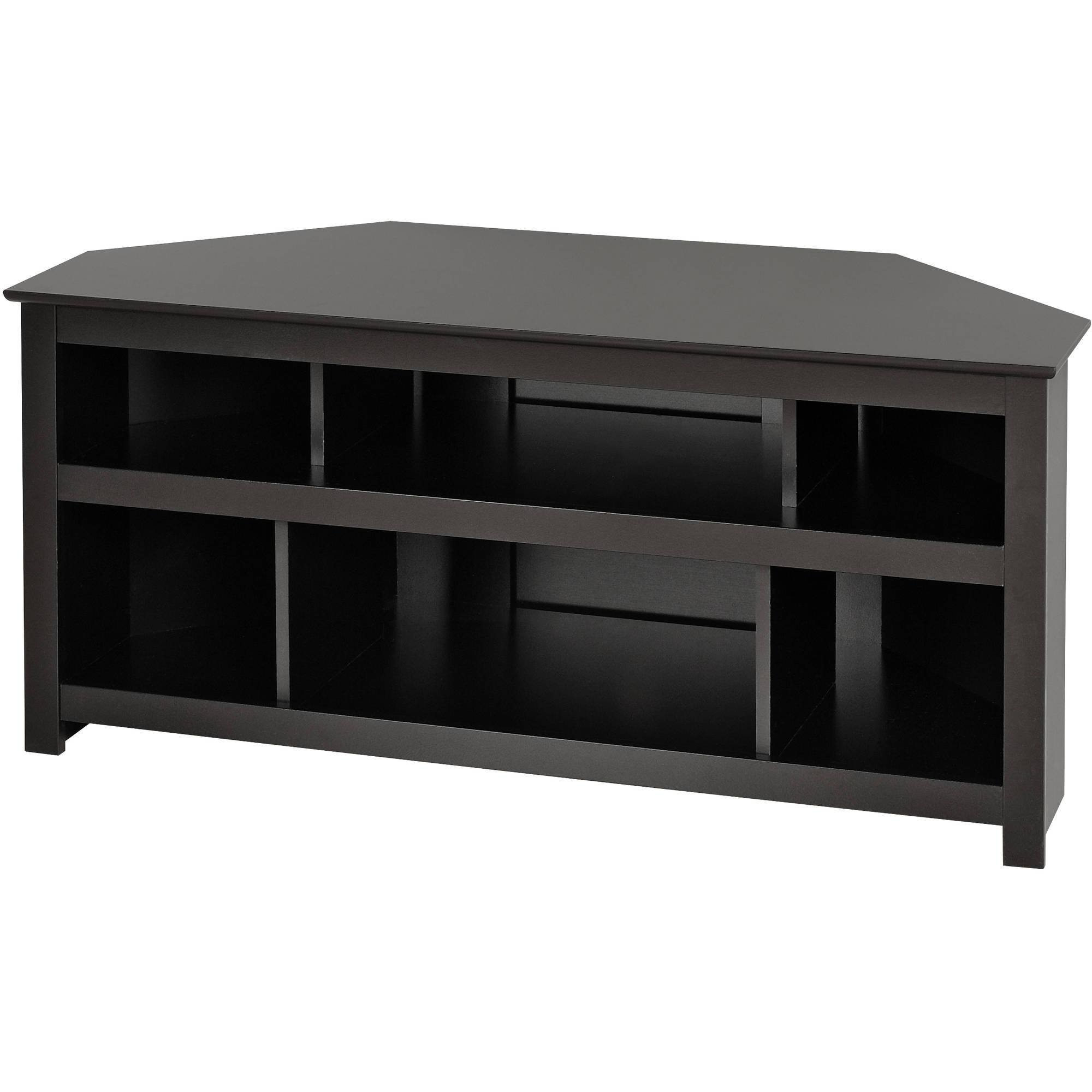 "Prepac Vasari 48"" Corner Tv Stand In Black - Walmart regarding Black Corner Tv Cabinets (Image 10 of 15)"