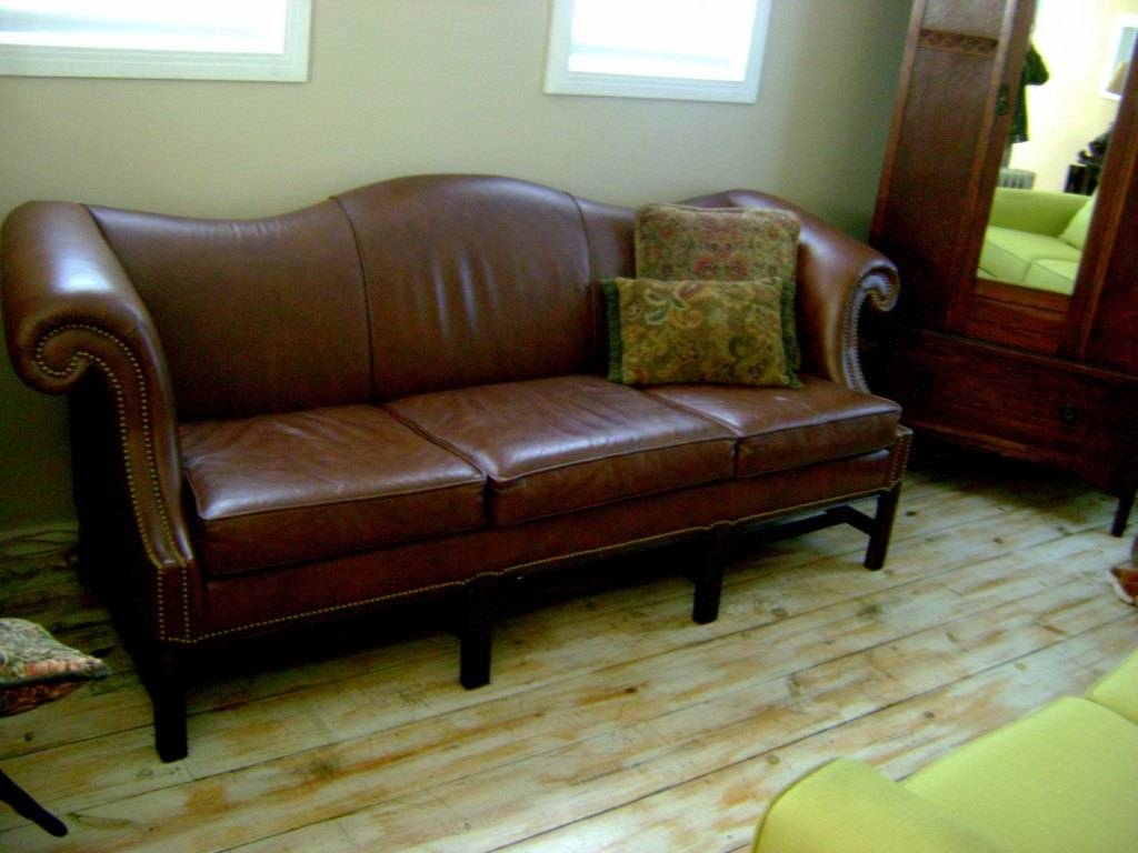 Pretty Camelback Leather Sofa — Home Design Stylinghome Design Styling throughout Camelback Leather Sofas (Image 11 of 15)