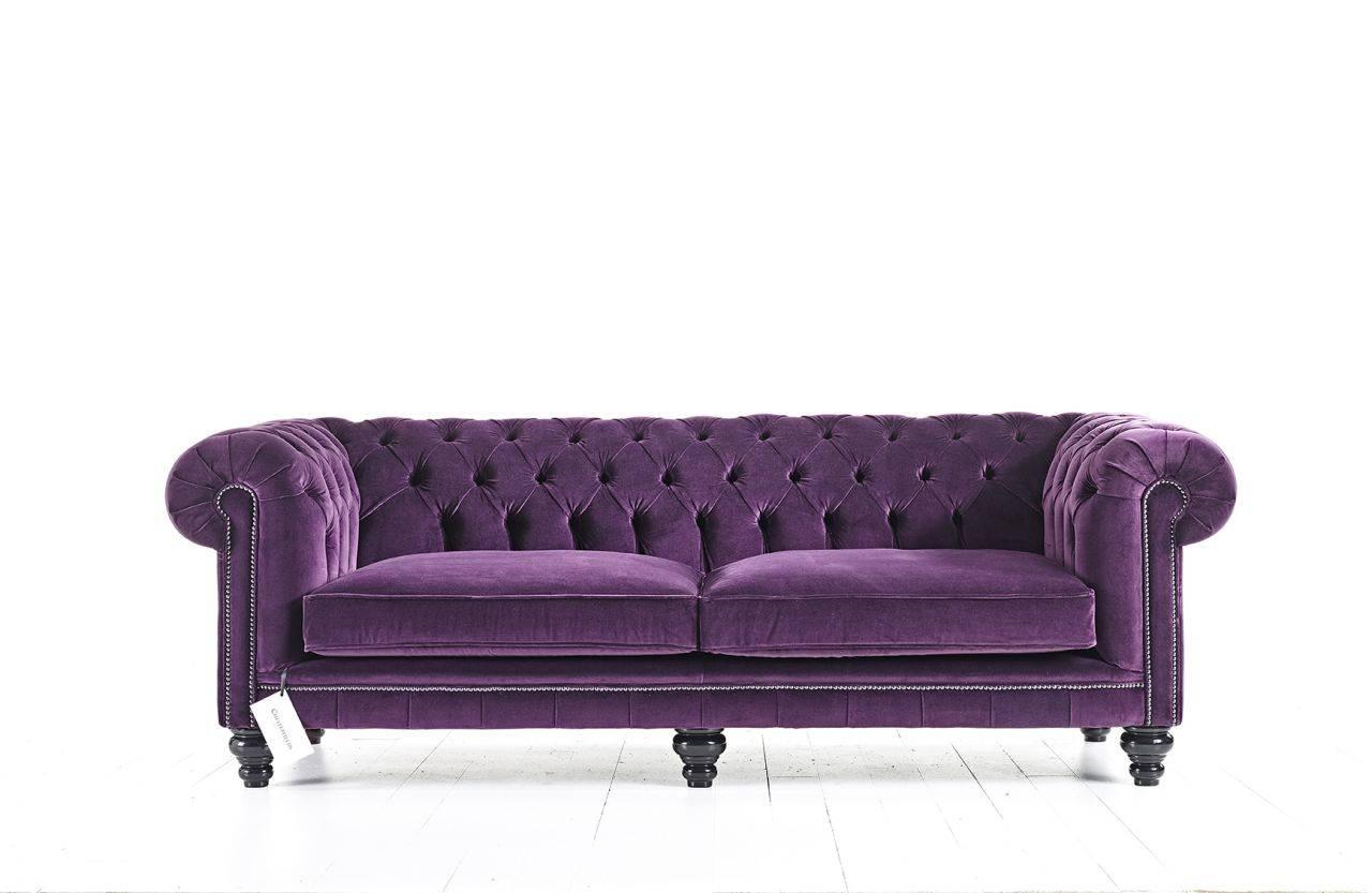 Purple Velvet Chesterfield Sofa | Goodca Sofa with Purple Chesterfield Sofas (Image 9 of 15)