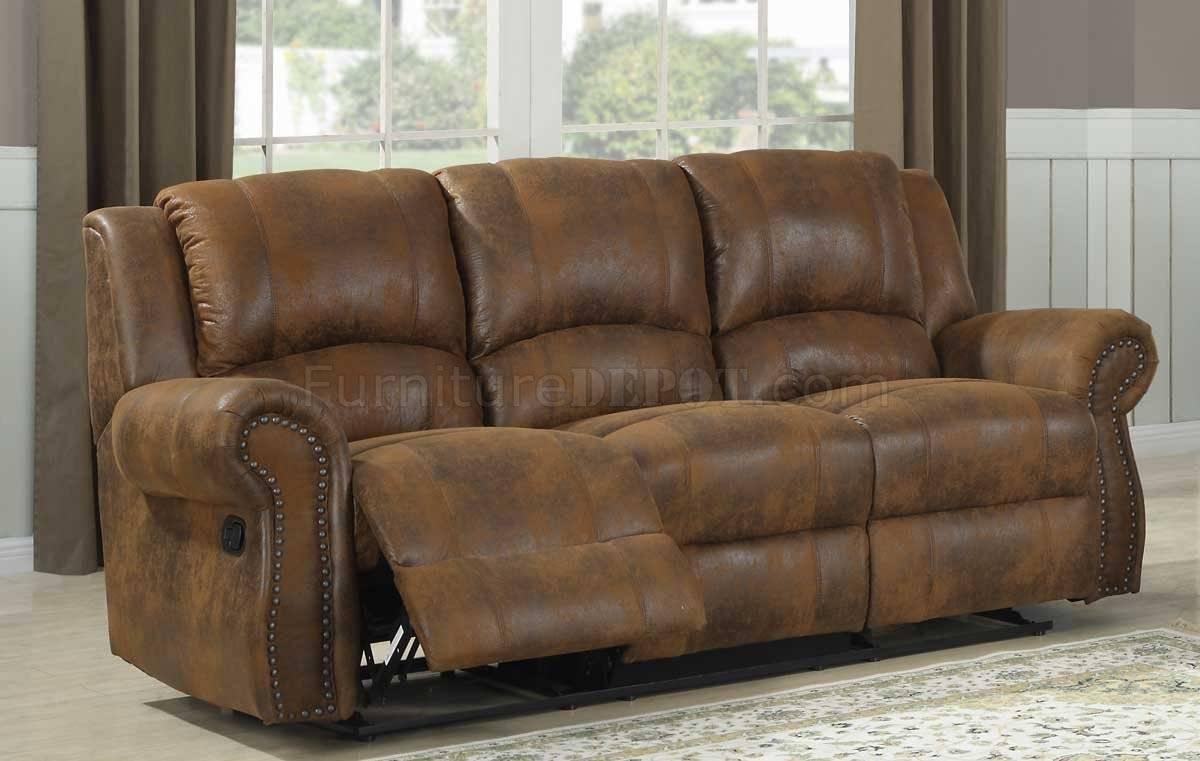 Quinn Motion Sofa - Bomber Jacket Microfiber- Homelegance intended for Bomber Leather Sofas (Image 12 of 15)
