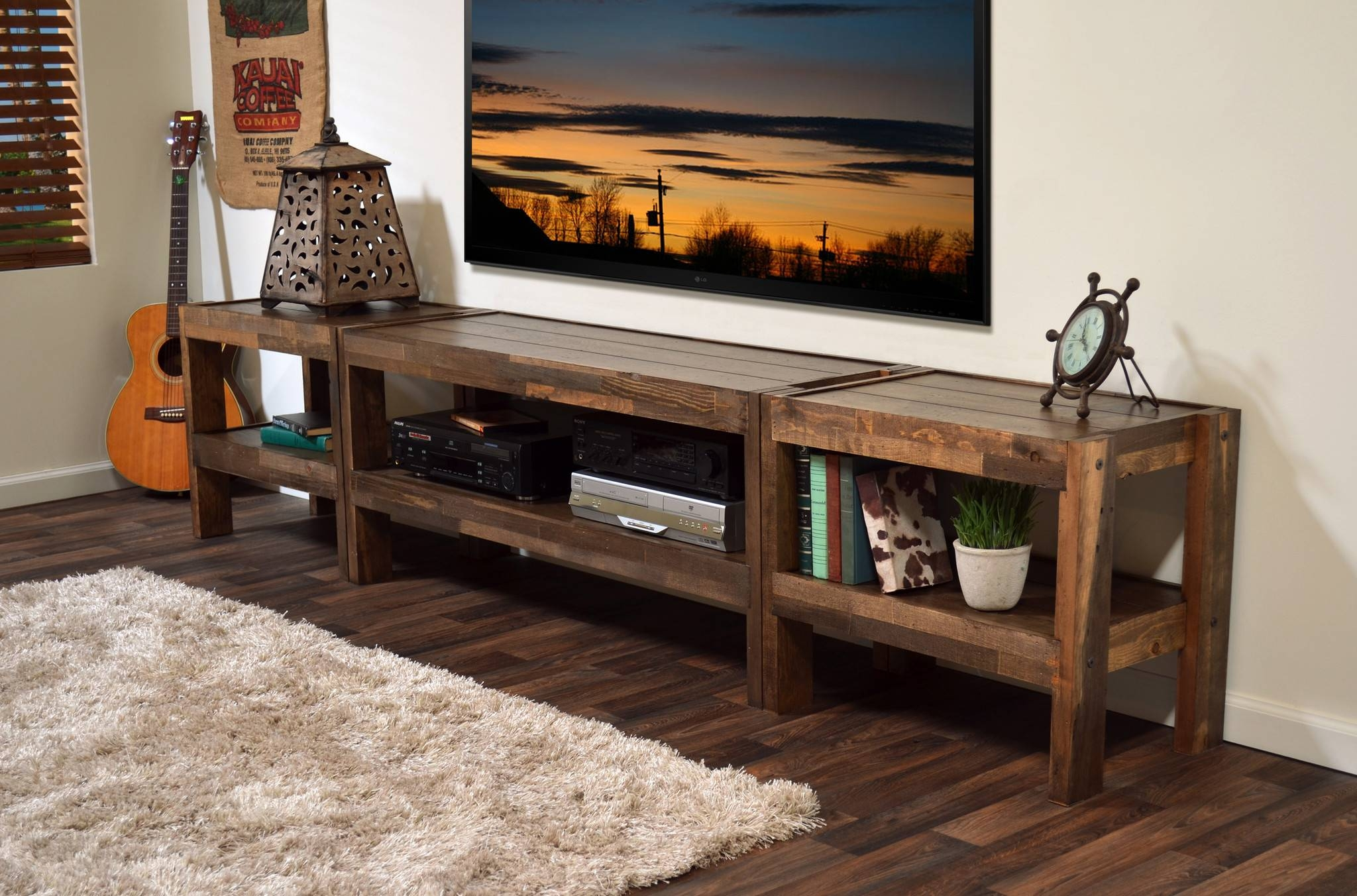 Reclaimed Wood Entertainment Center Photo – Home Furniture Ideas intended for Wood Tv Entertainment Stands (Image 9 of 15)