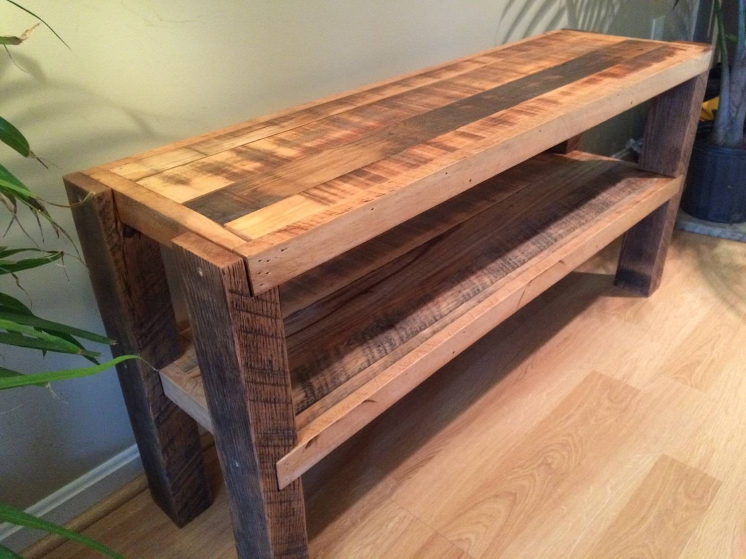 Reclaimed Wood Tv Stand / Media Console for Recycled Wood Tv Stands (Image 7 of 15)