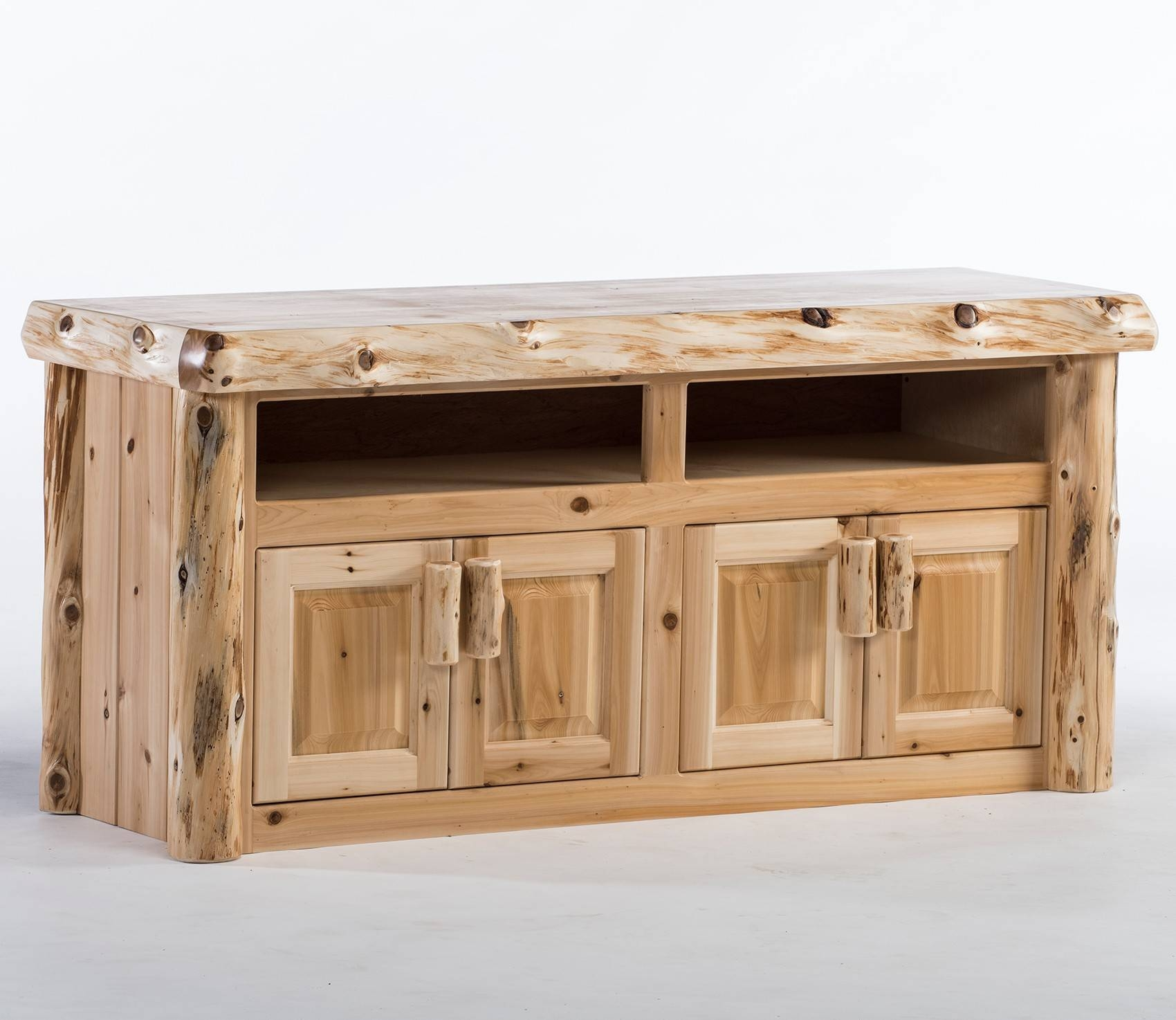 Reclaimed Wood Tv Stands & Rustic Tv Stands: Log Tv Stand & Rustic Intended For Rustic Tv Stands (View 15 of 15)