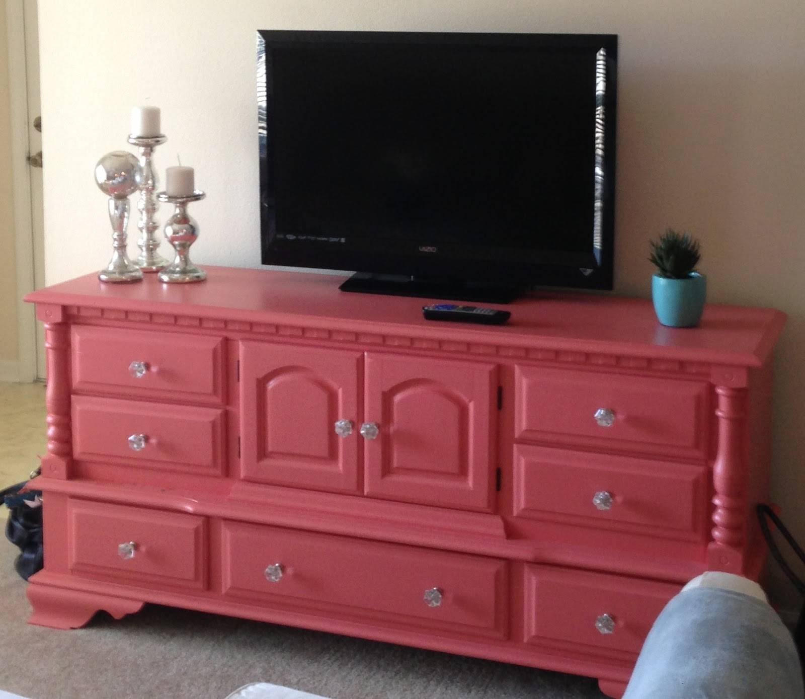 Reclaiming The Empty Nest: Reclaiming The Used Dresser Into A Tv Stand Throughout Dresser And Tv Stands Combination (View 5 of 15)