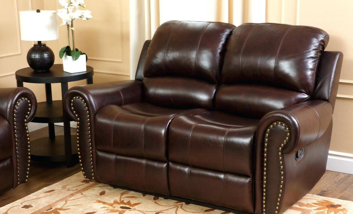 Recliner : Burgundy Leather Recliner Chair Noticeable Burgundy With Abbyson Recliners (View 10 of 15)