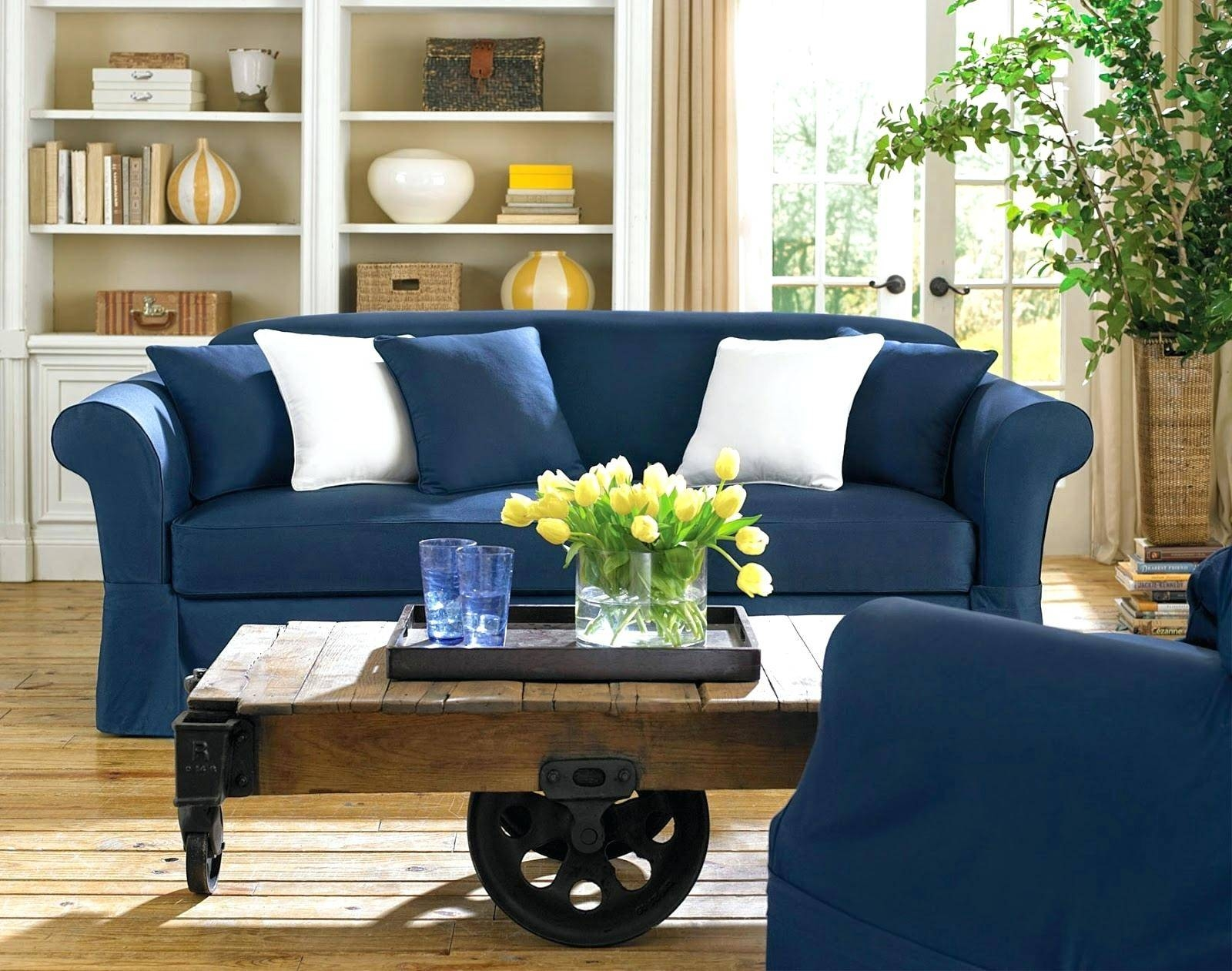 Recliners: Awesome Blue Recliner Slipcover For Living Space. Blue throughout Blue Slipcovers (Image 13 of 15)