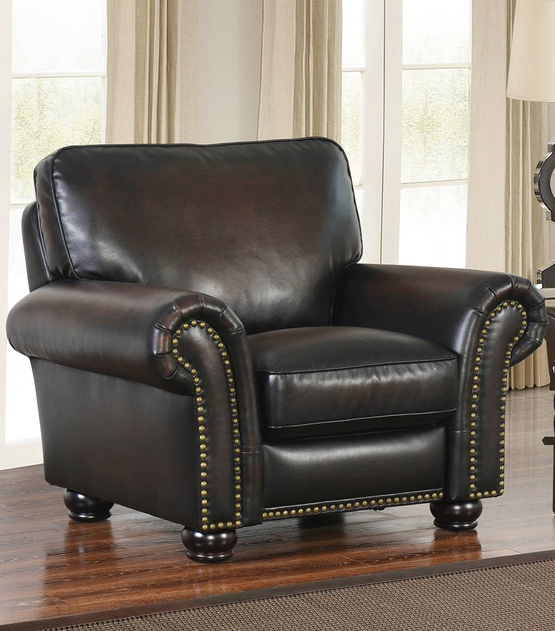 Recliners : Braxton Leather Pushback Recliner Pertaining To Abbyson Recliners (View 12 of 15)