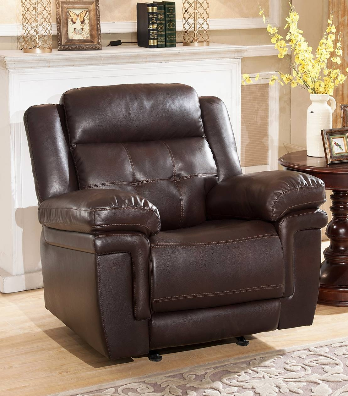 Recliners : Carly Leather Rocker Recliner With Abbyson Recliners (View 9 of 15)