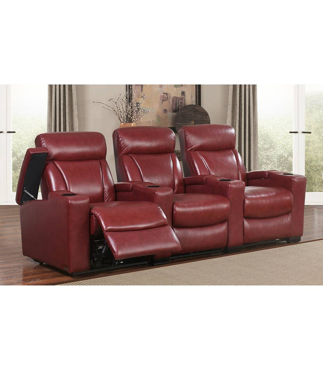 Recliners : Romano 3 Piece Recliners, Red Inside Abbyson Recliners (View 7 of 15)