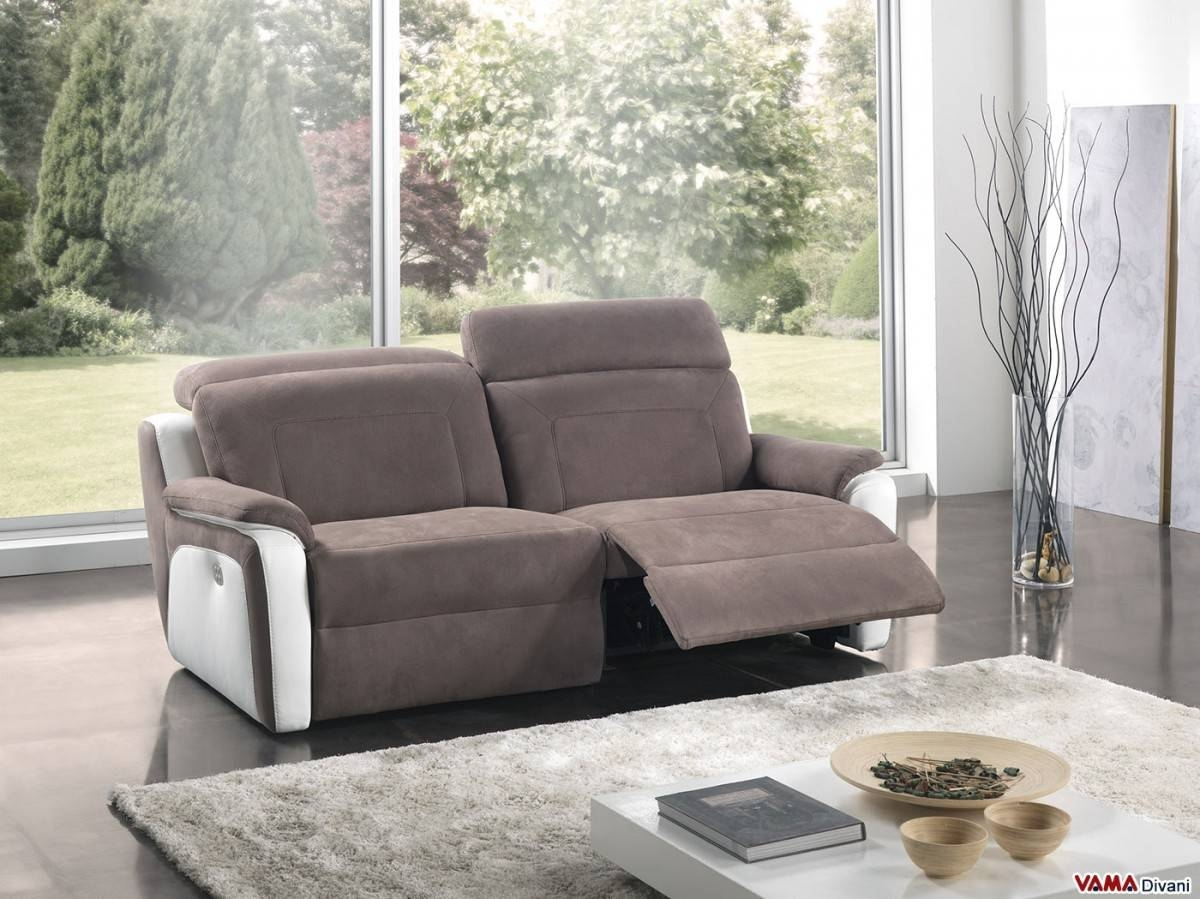 Reclining Sofa With Independent Headrests And Footrests for Electric Sofa Beds (Image 12 of 15)
