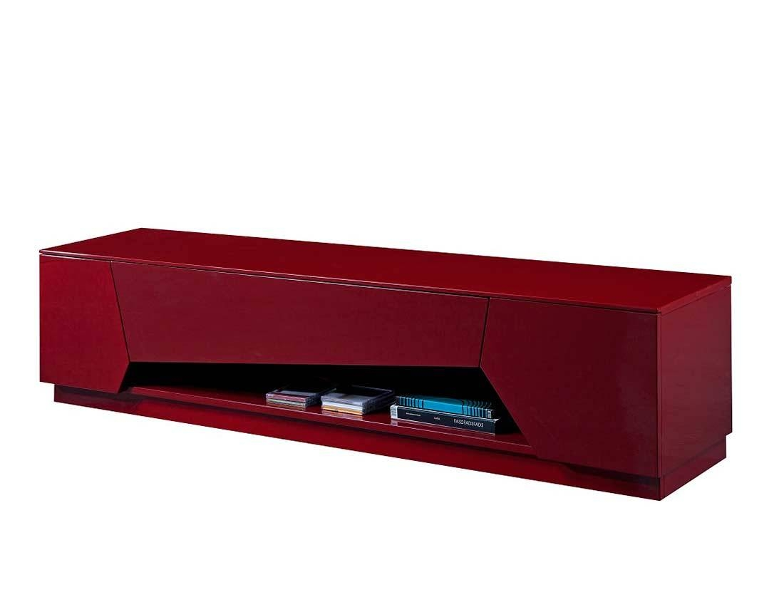 Red High Gloss Tv Base Sj125 | Tv Stands intended for Red Tv Stands (Image 9 of 15)