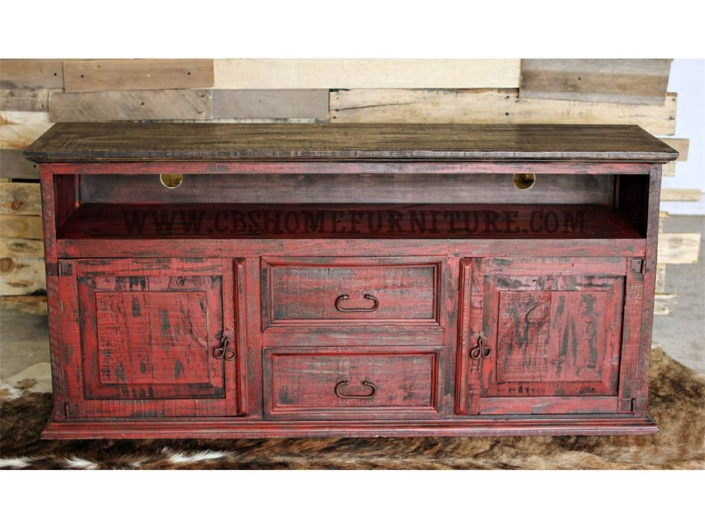 View photos of rustic red tv stands showing 2 of 15 photos red tv console table 7255 with regard to rustic red tv stands photo 2 geotapseo Image collections