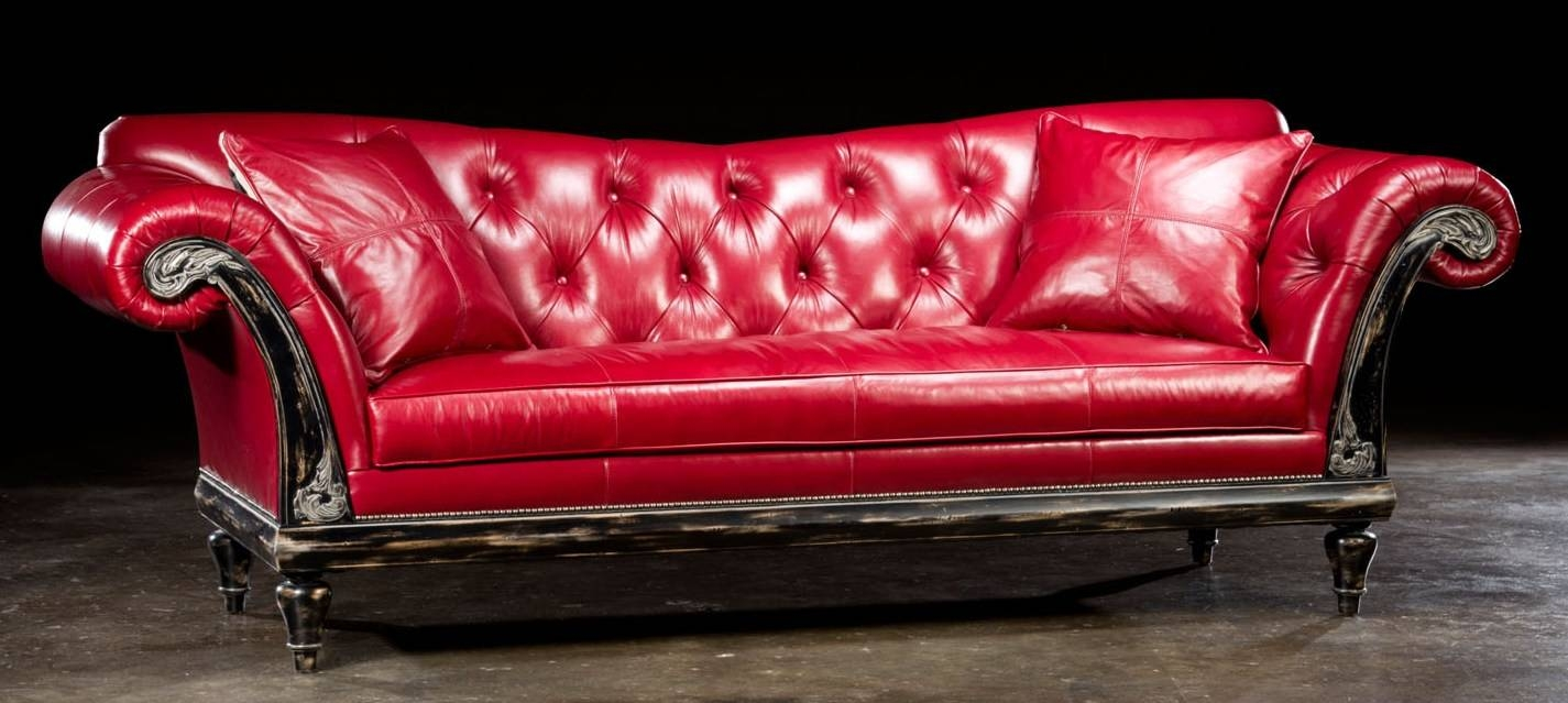 Remarkable Red Leather Sofas And Loveseats Pics Ideas - Surripui with Dark Red Leather Sofas (Image 14 of 15)