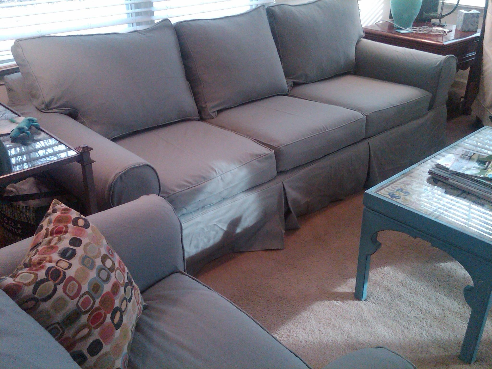 Replacement Slipcover Outlet- Replacement Slipcovers For Famous for Denim Sofa Slipcovers (Image 8 of 15)