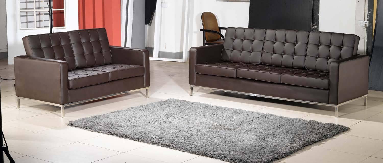 Replica Leather Florence Knoll Sofa Mkl04B1 - Buy Florence Knoll pertaining to Florence Knoll Sofas (Image 15 of 15)