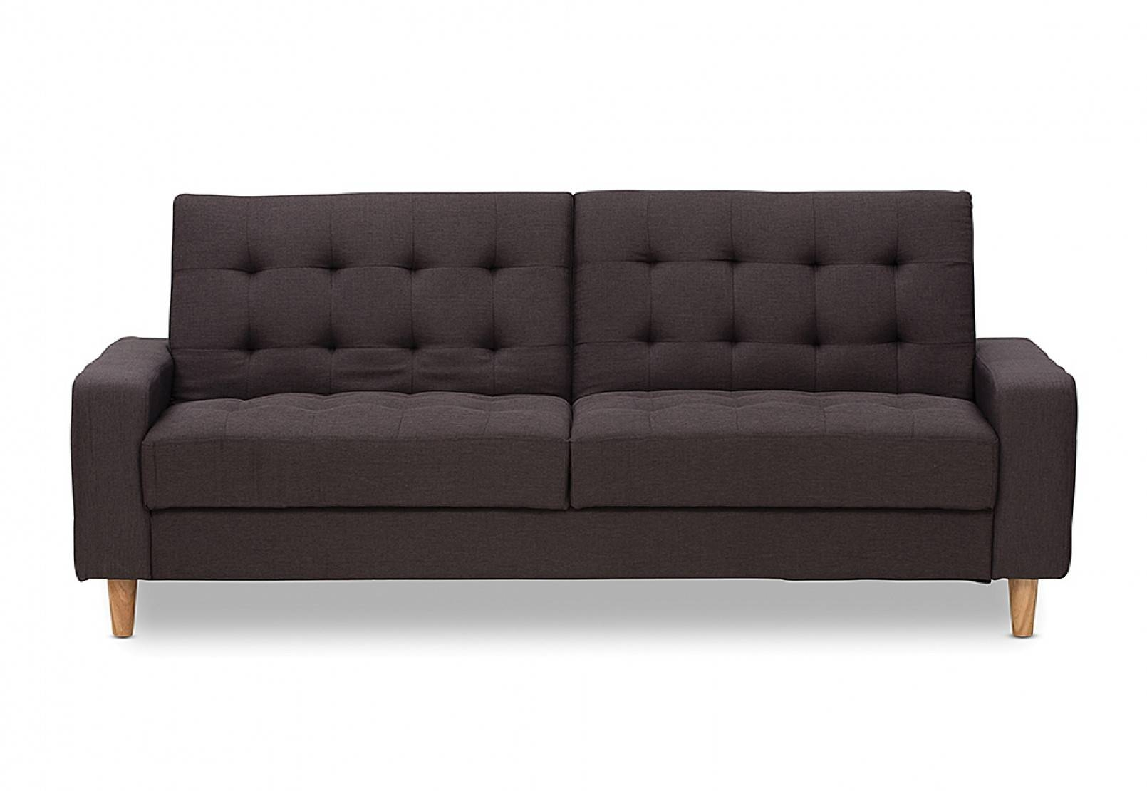 Retreat Fabric Click Clack Sofa Bed | Amart Furniture inside Clic Clac Sofa Beds (Image 13 of 15)