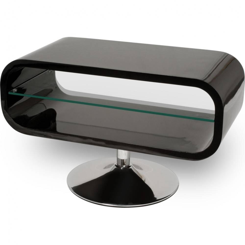 Retro Chrome Pedestal; Quick To Assemble; Displays Up To 42 throughout Techlink Tv Stands Sale (Image 10 of 15)