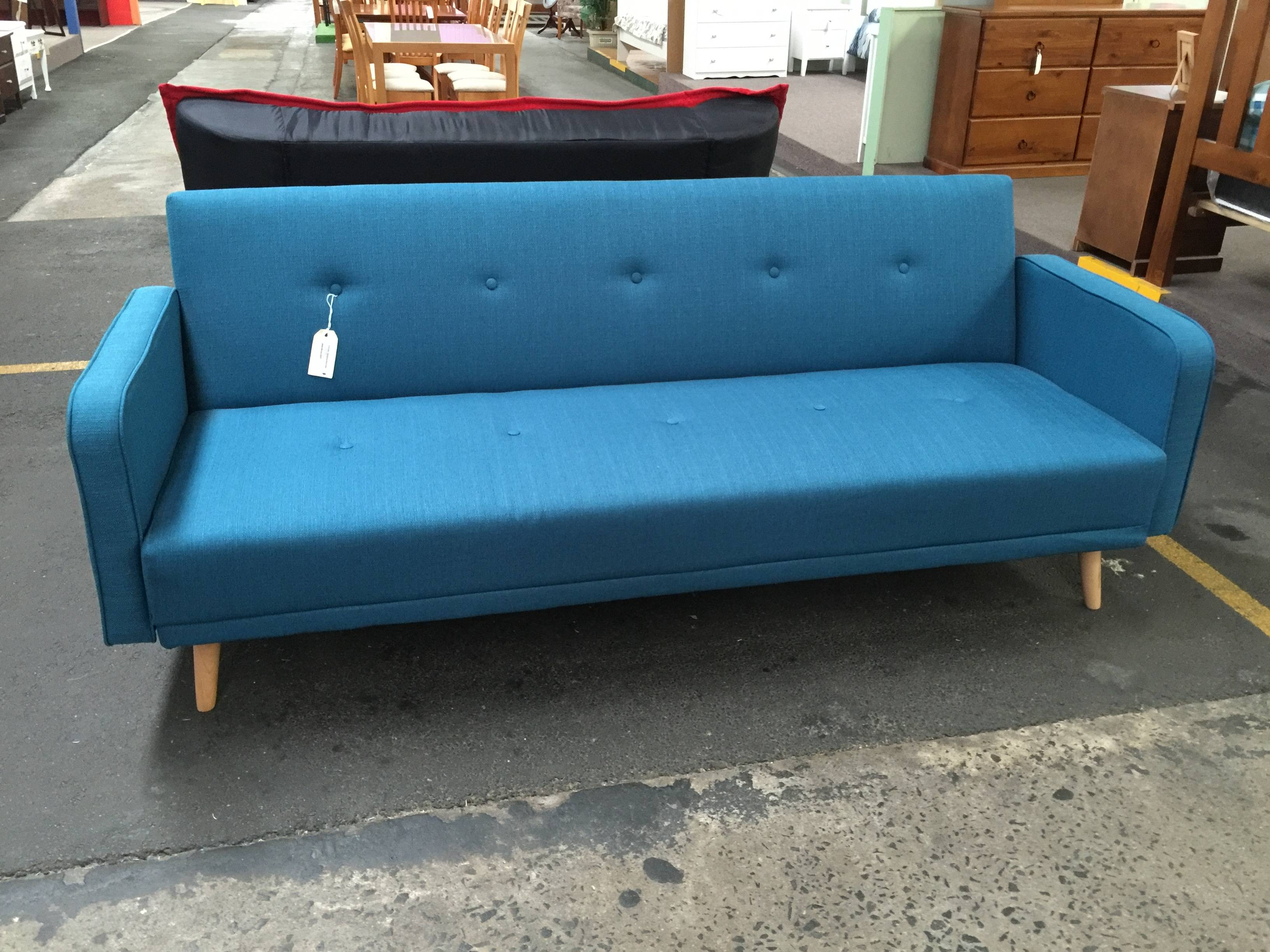 Retro Click Clack Sofa Bed | The Big Shed in Clic Clac Sofa Beds (Image 14 of 15)