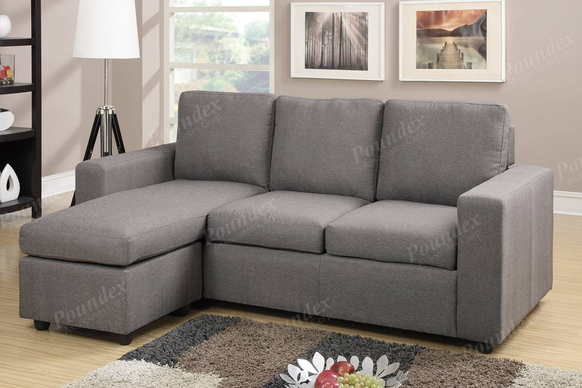 Reversible Sectional | Sectional Sofa | Living Room Furniture pertaining to Poundex Sofas (Image 11 of 15)