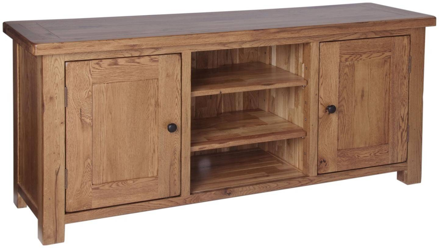 Ridgeway Oak Large Video Cabinet intended for Oak Tv Cabinets With Doors (Image 10 of 15)