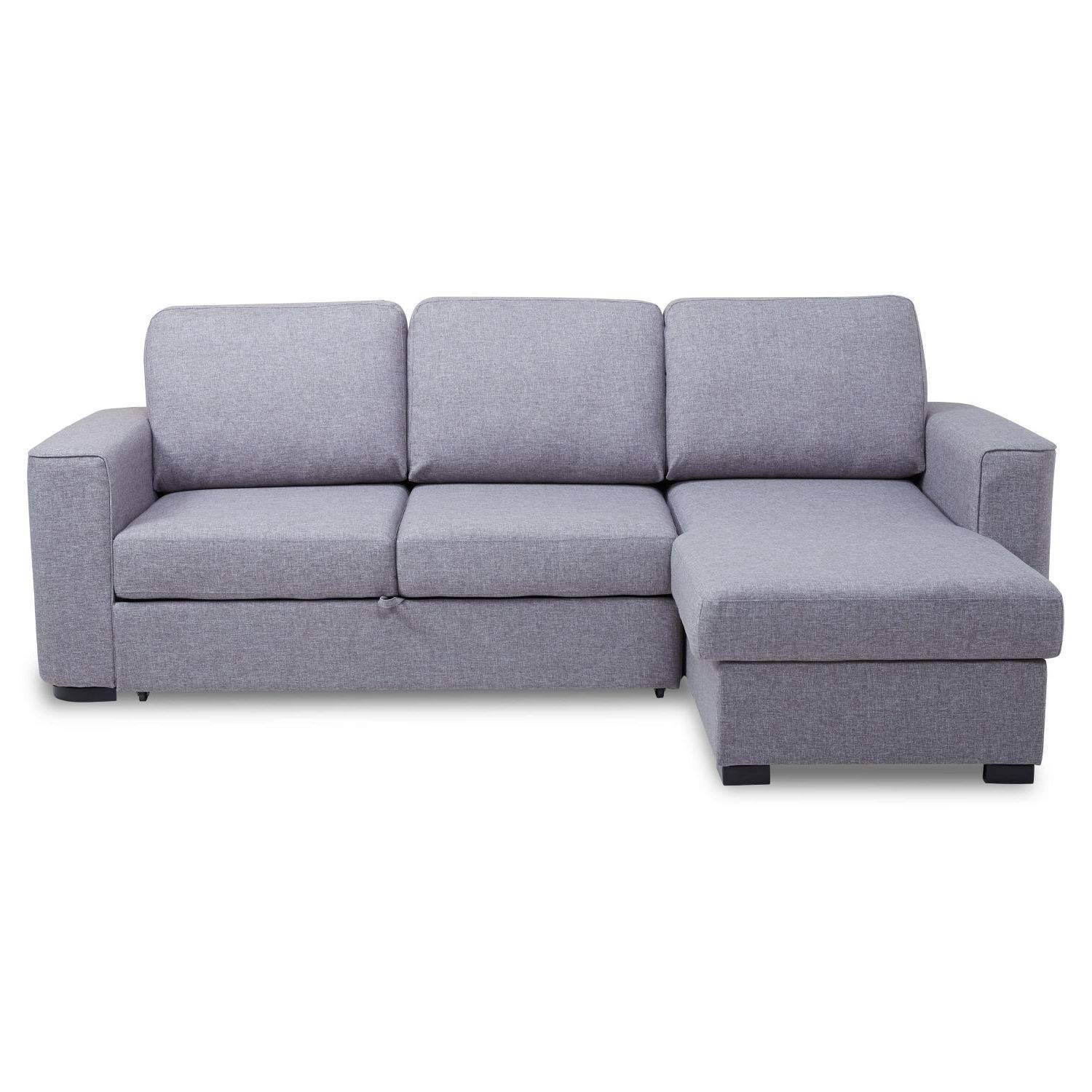 Ronny Fabric Corner Chaise Sofa Bed With Storage – Next Day Throughout Sofa Beds With Storage Chaise (View 12 of 15)