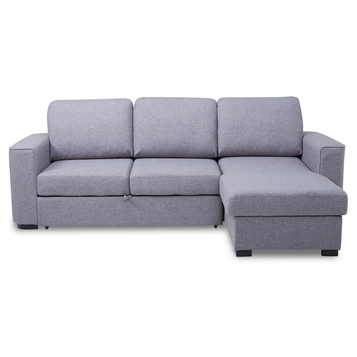 Ronny Fabric Corner Chaise Sofa Bed With Storage – Next Day Within Corner Sofa Beds (View 13 of 15)