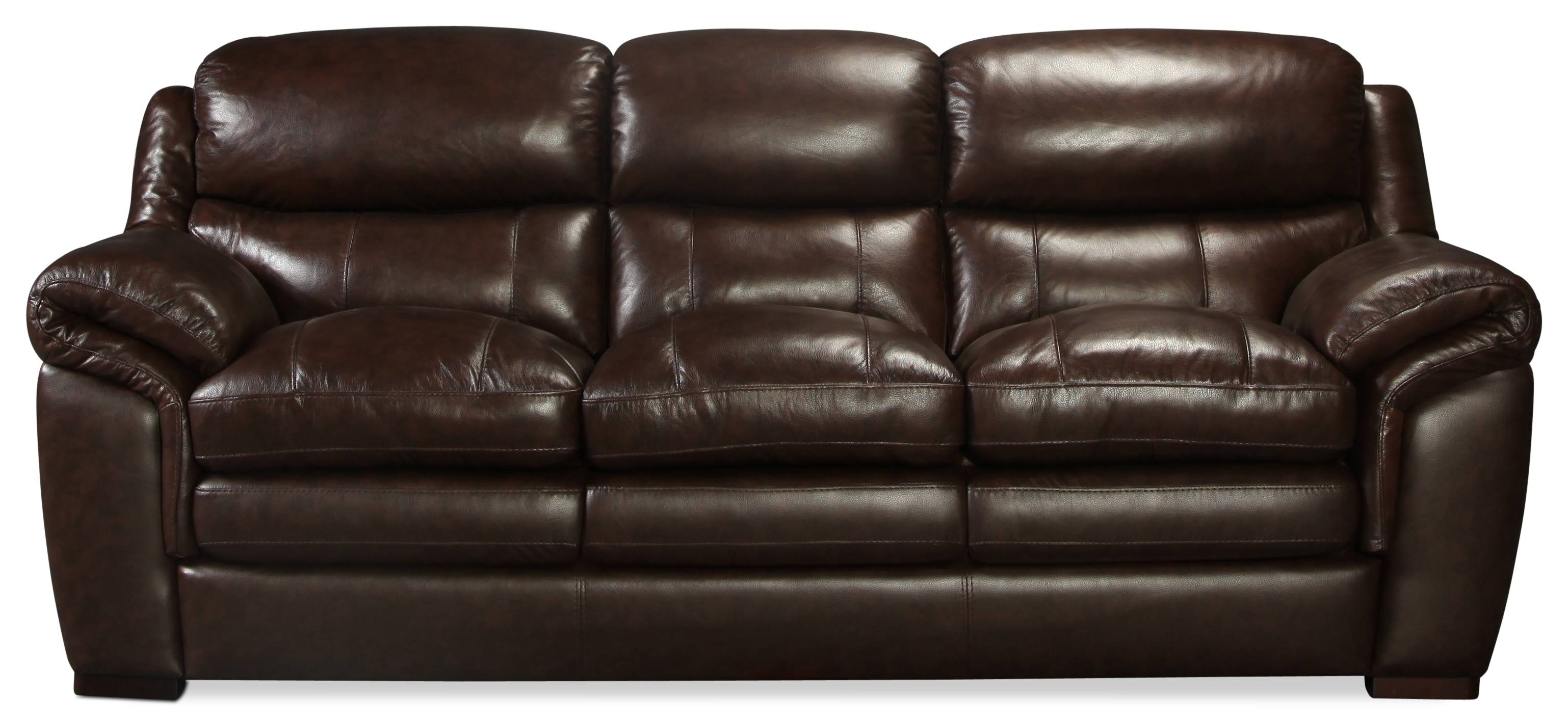 Rowan Leather Sofa | Levin Furniture With Regard To Sealy Leather Sofas (Photo 11 of 15)