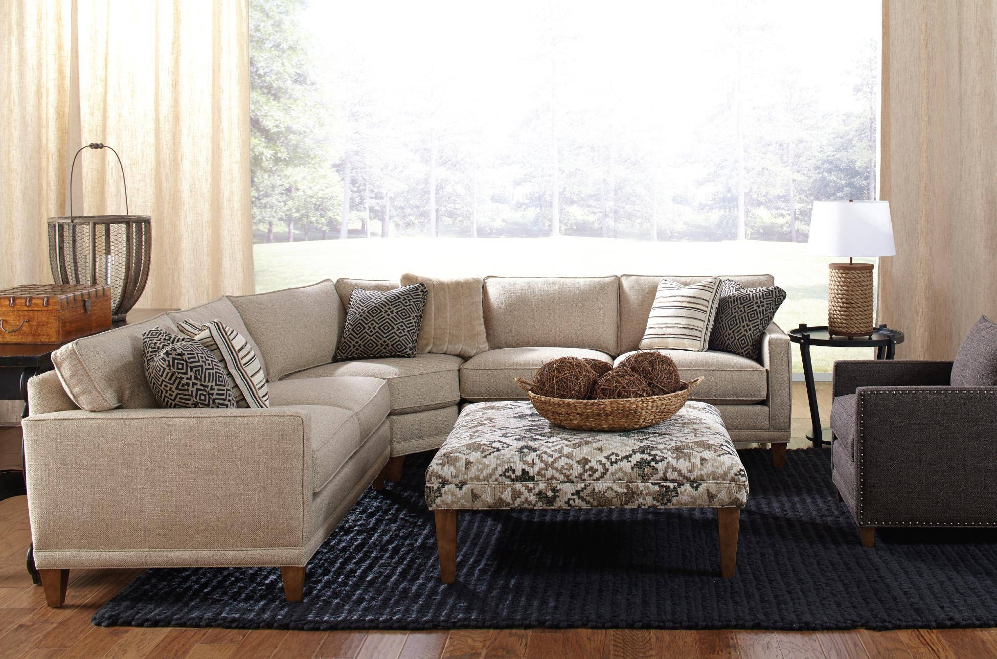 Rowe Townsend Casual Three Piece Sectional Sofa - Summerhome throughout Rowe Sectional Sofas (Image 14 of 15)