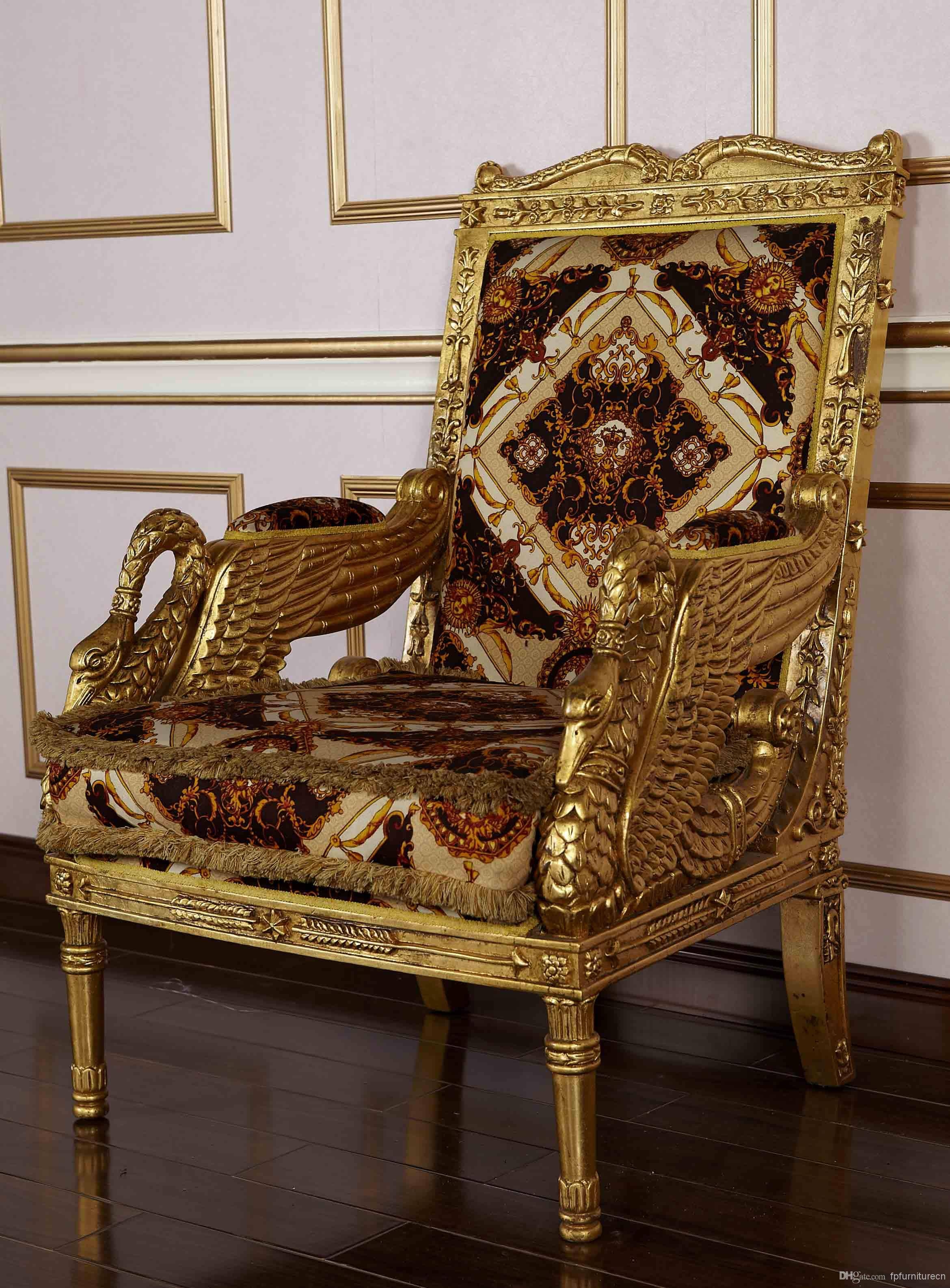 Royal Classic European Furniture – Hand Carved Solid Wood Armchair Pertaining To Carved Wood Sofas (View 10 of 15)