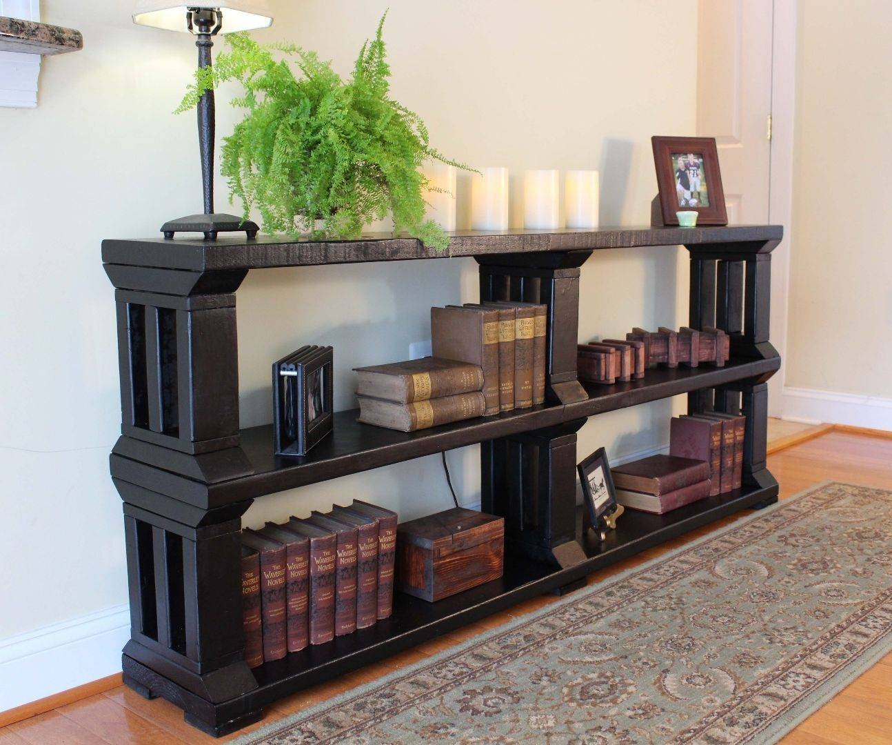 Rustic Book Shelf Or Tv Stand: 13 Steps (with Pictures) Intended For Bookshelf And Tv Stands (View 5 of 15)