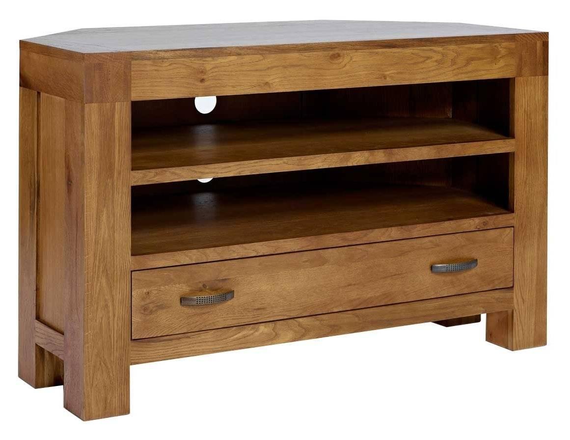 Rustic Grange Santana Rustic Oak Corner Tv Stand With Regard To Corner Wooden Tv Cabinets (View 12 of 15)