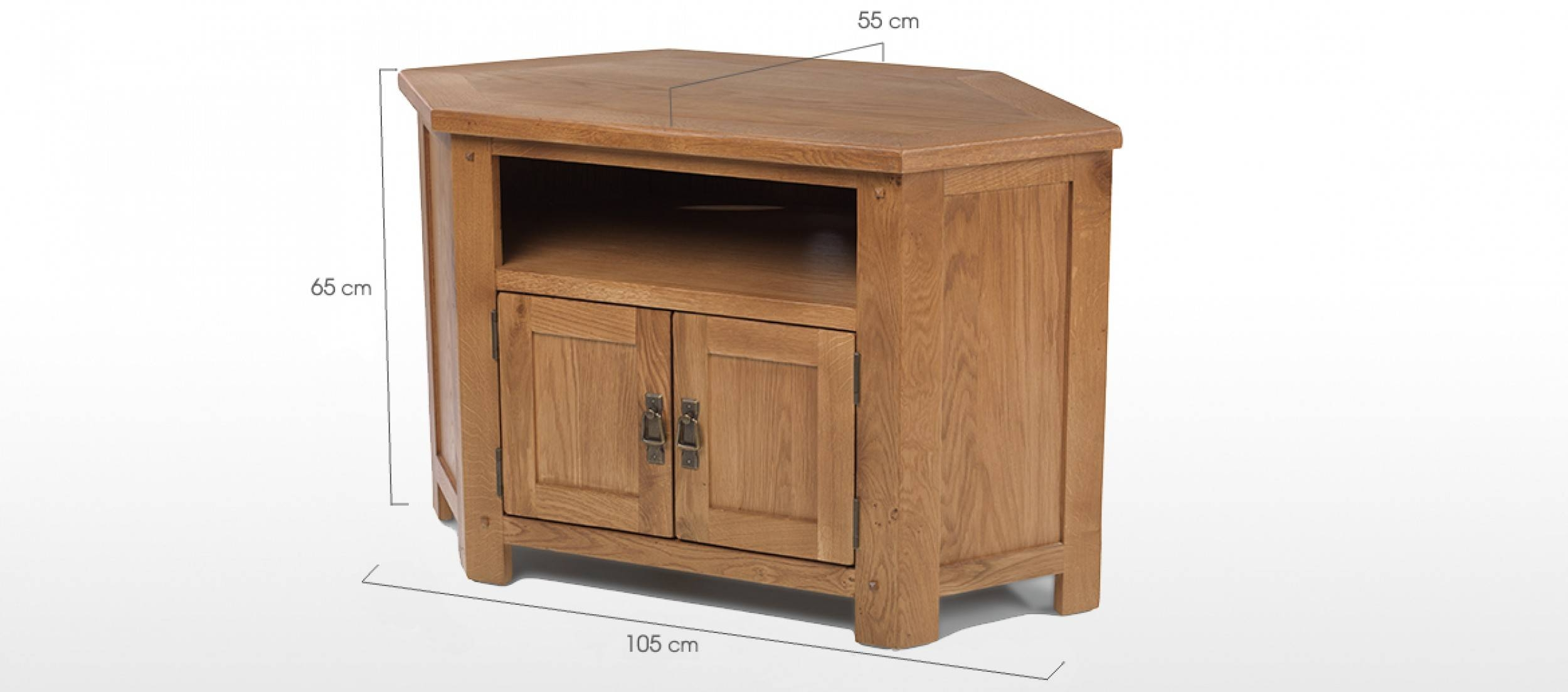 Rustic Oak Corner Tv Cabinet | Quercus Living within Rustic Oak Tv Stands (Image 11 of 15)