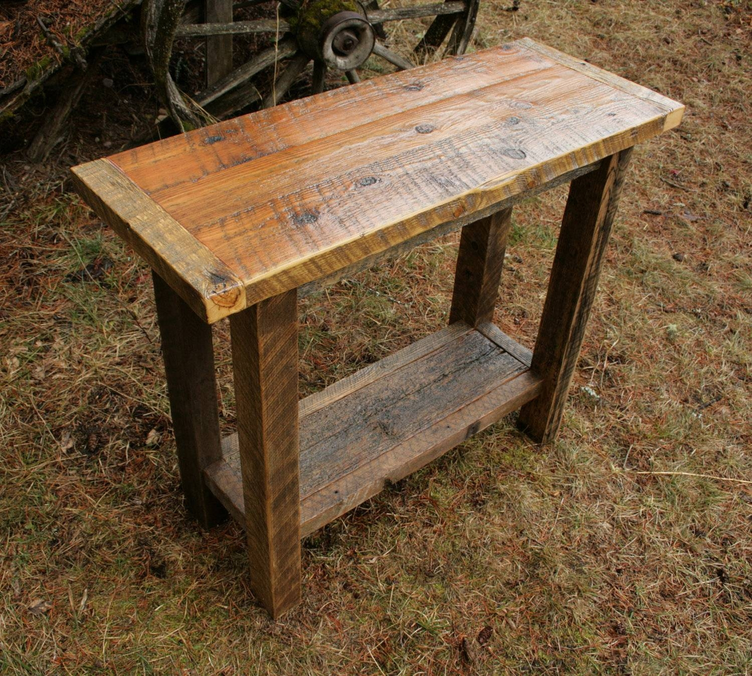 Rustic Sofa Table For Classic Room | Beauty Home Decor with regard to Barnwood Sofa Tables (Image 10 of 15)
