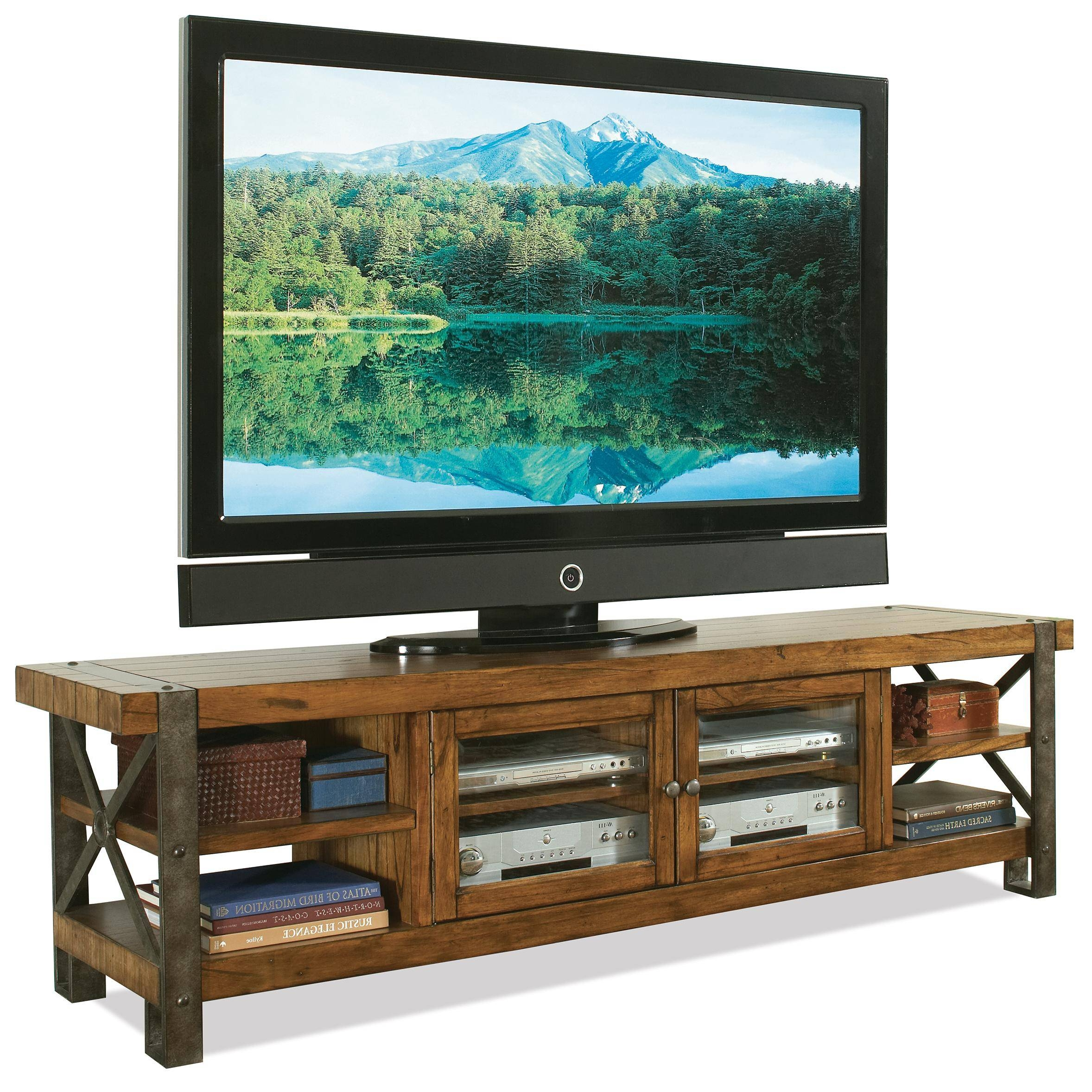 Rustic Tv Stand Console Table With Bookshelf And Storage With Intended For Cheap Rustic Tv Stands (View 11 of 15)